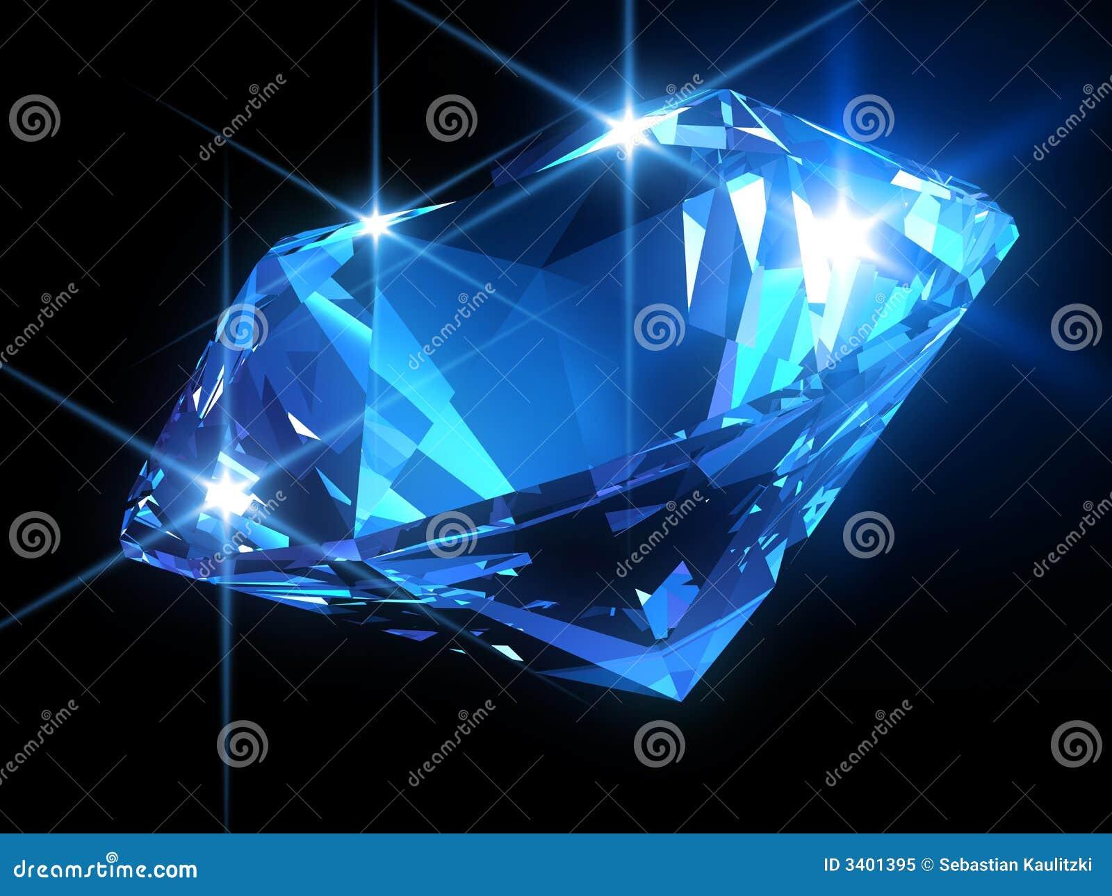 Diamante Azul Brilhante Ilustra 231 227 O Stock Imagem De