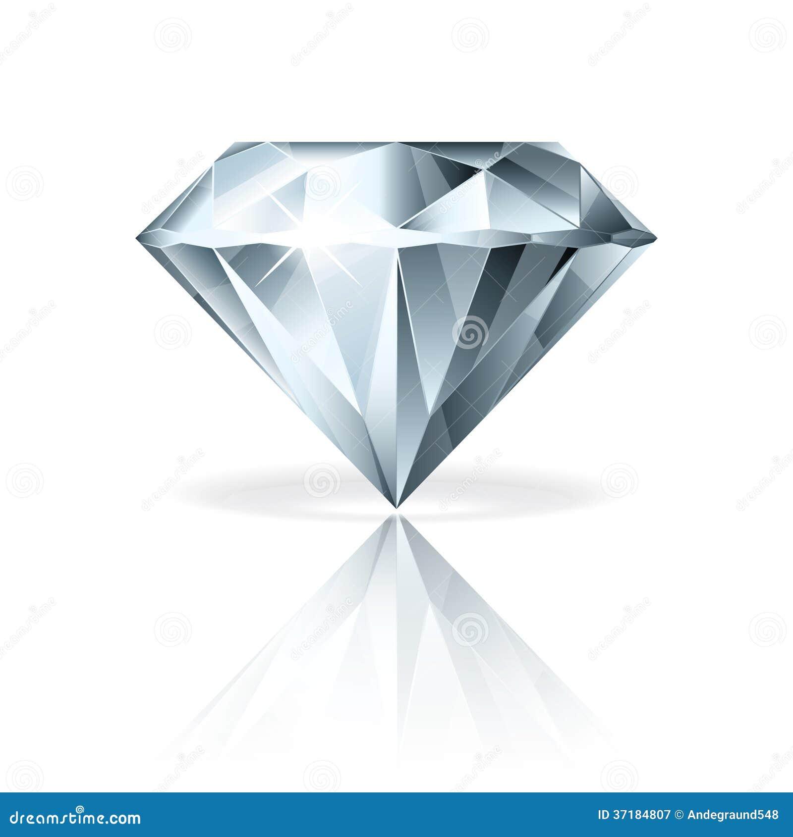 Diamante Sull'illustrazione Bianca Di Vettore Fotografia Stock Libera ...