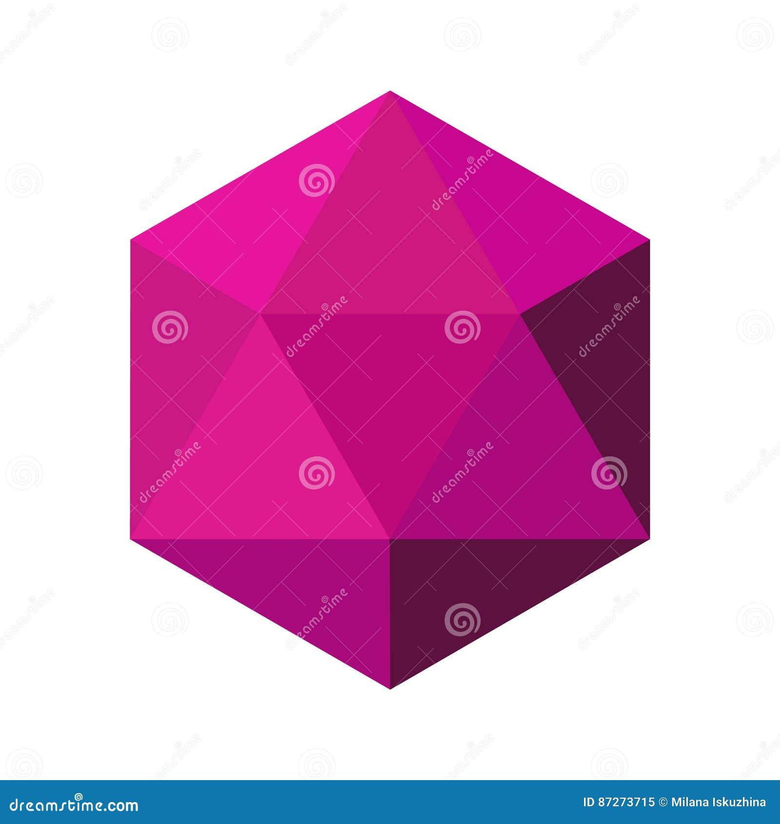 Diamanten vectorillustratie in een vlakke stijl