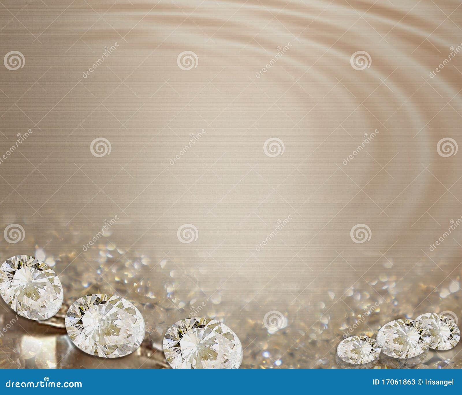 Diamanti dell invito di cerimonia nuziale sui nastri del raso