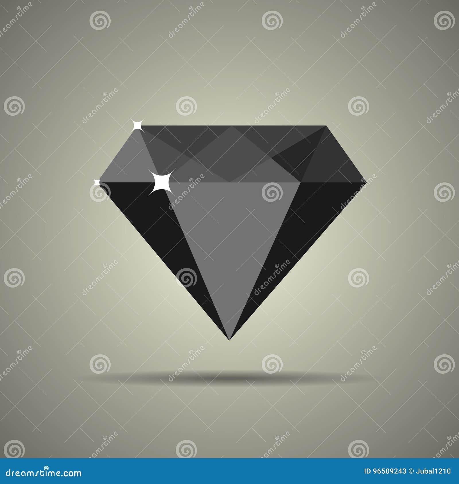 Diamantpictogram in vlakke stijl