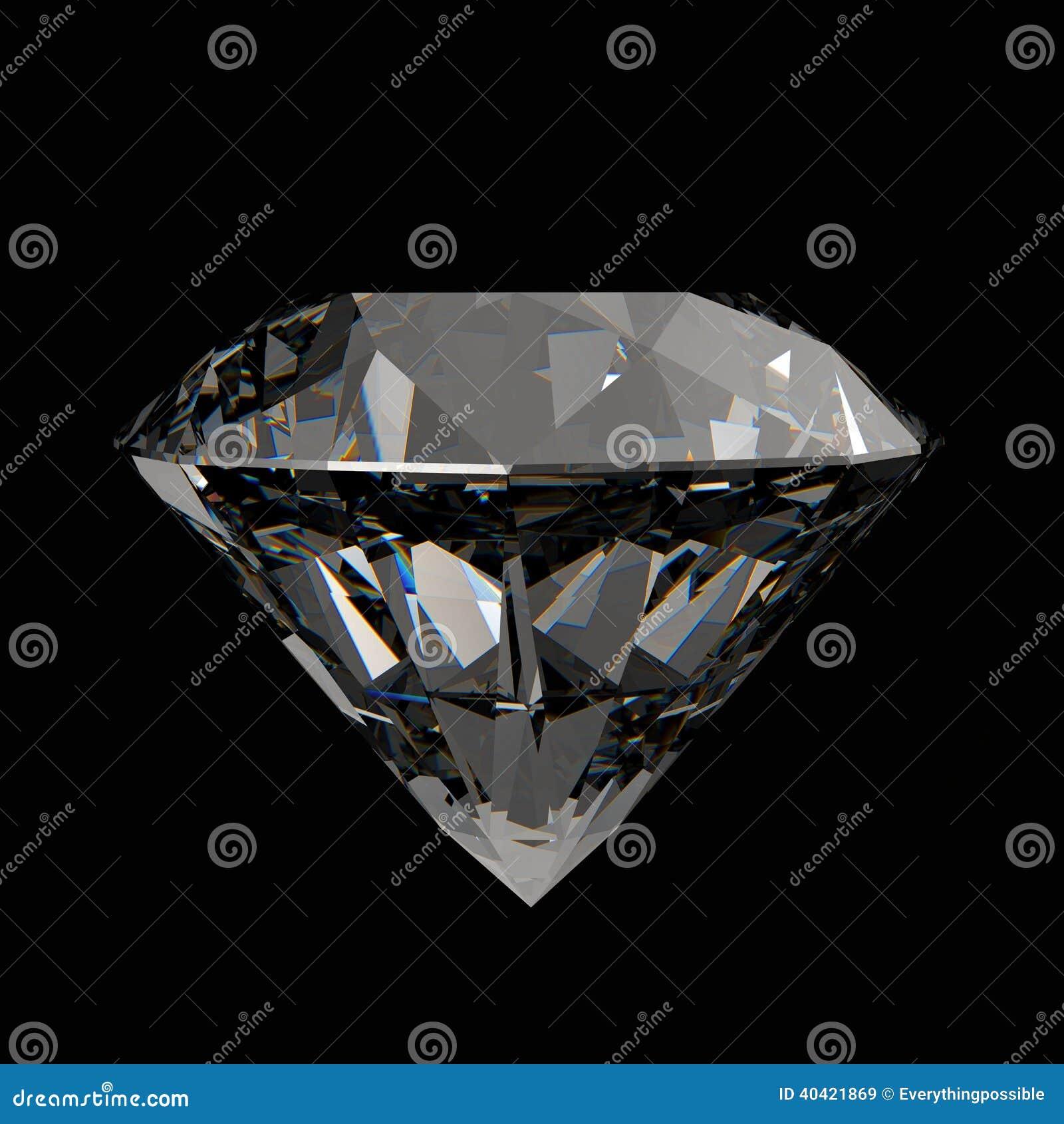 Diamants 3d en composition