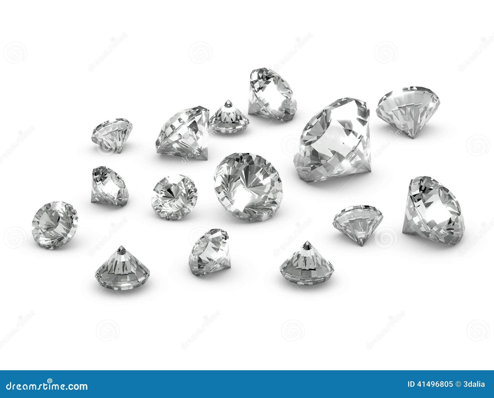 Diamants dispersés par 3d