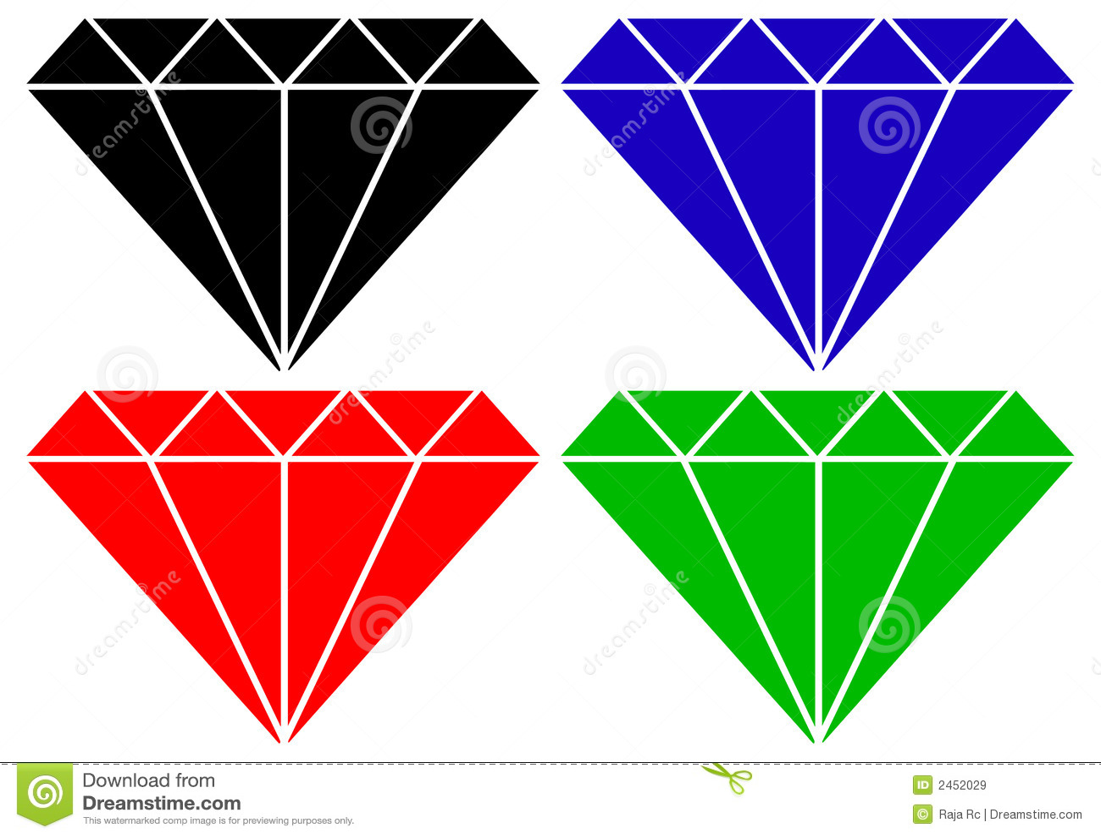 Diamantvektor