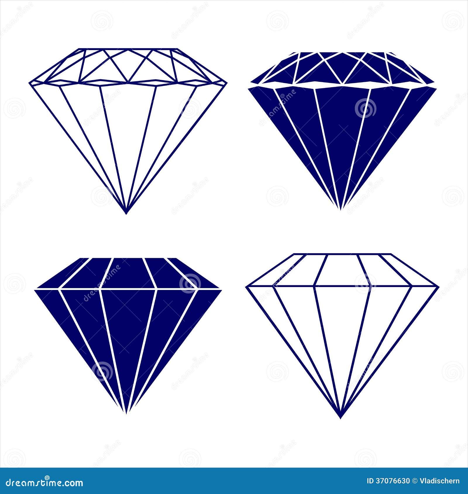 Download Diamentowa Symbolu Wektoru Ilustracja Ilustracja Wektor - Ilustracja złożonej z drogi, faseta: 37076630