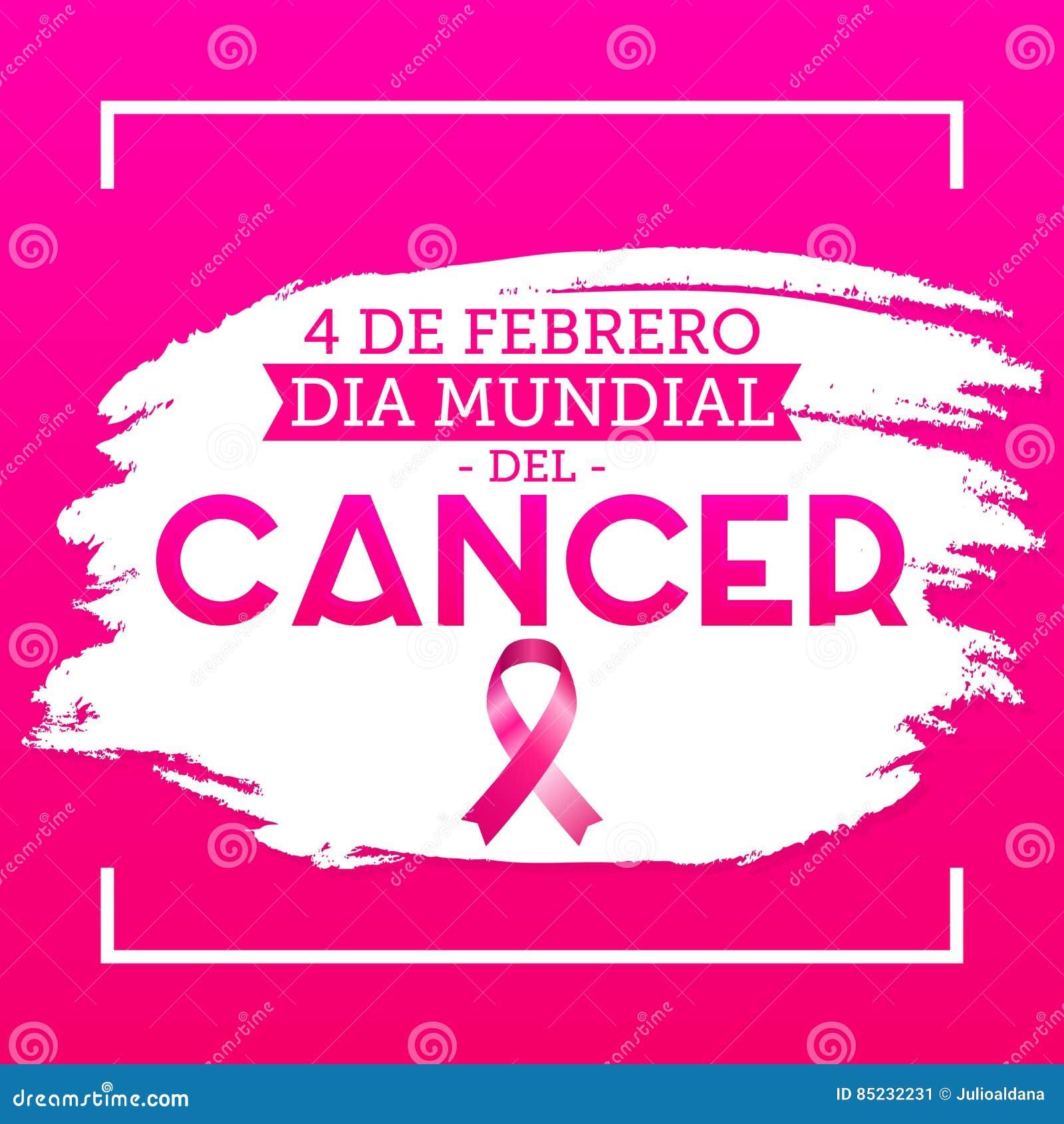 Diameter mundial del Cancer - den februari för världscancerdagen 4 spanjoren smsar