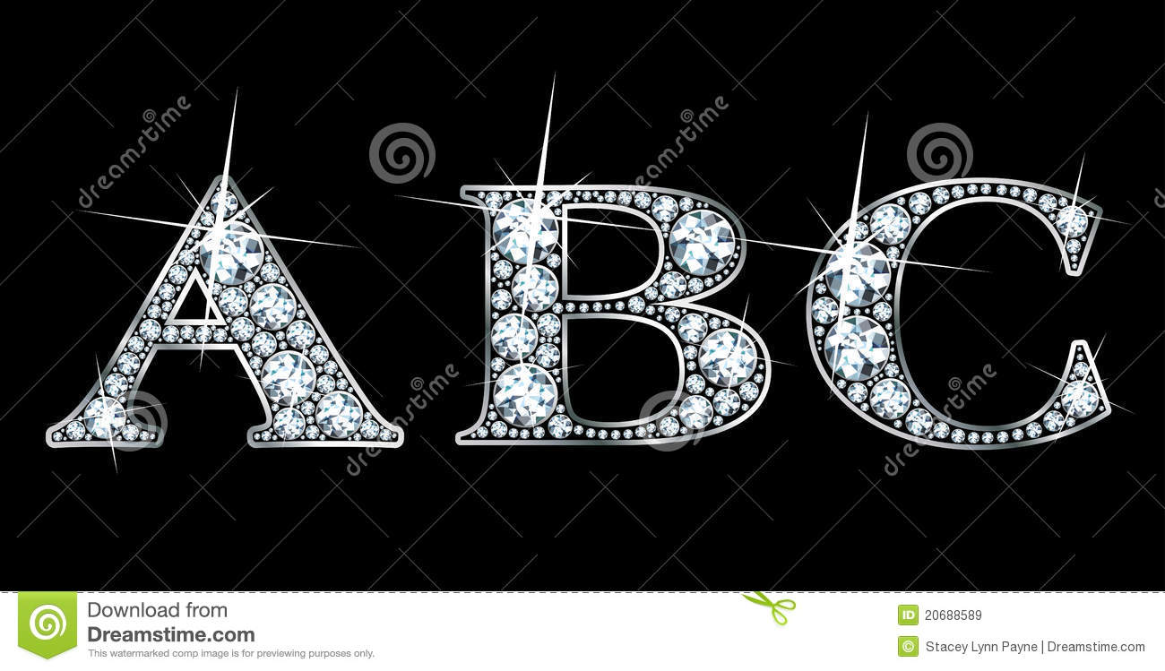 diamond abc stock vector  image of monogram  type  shiny