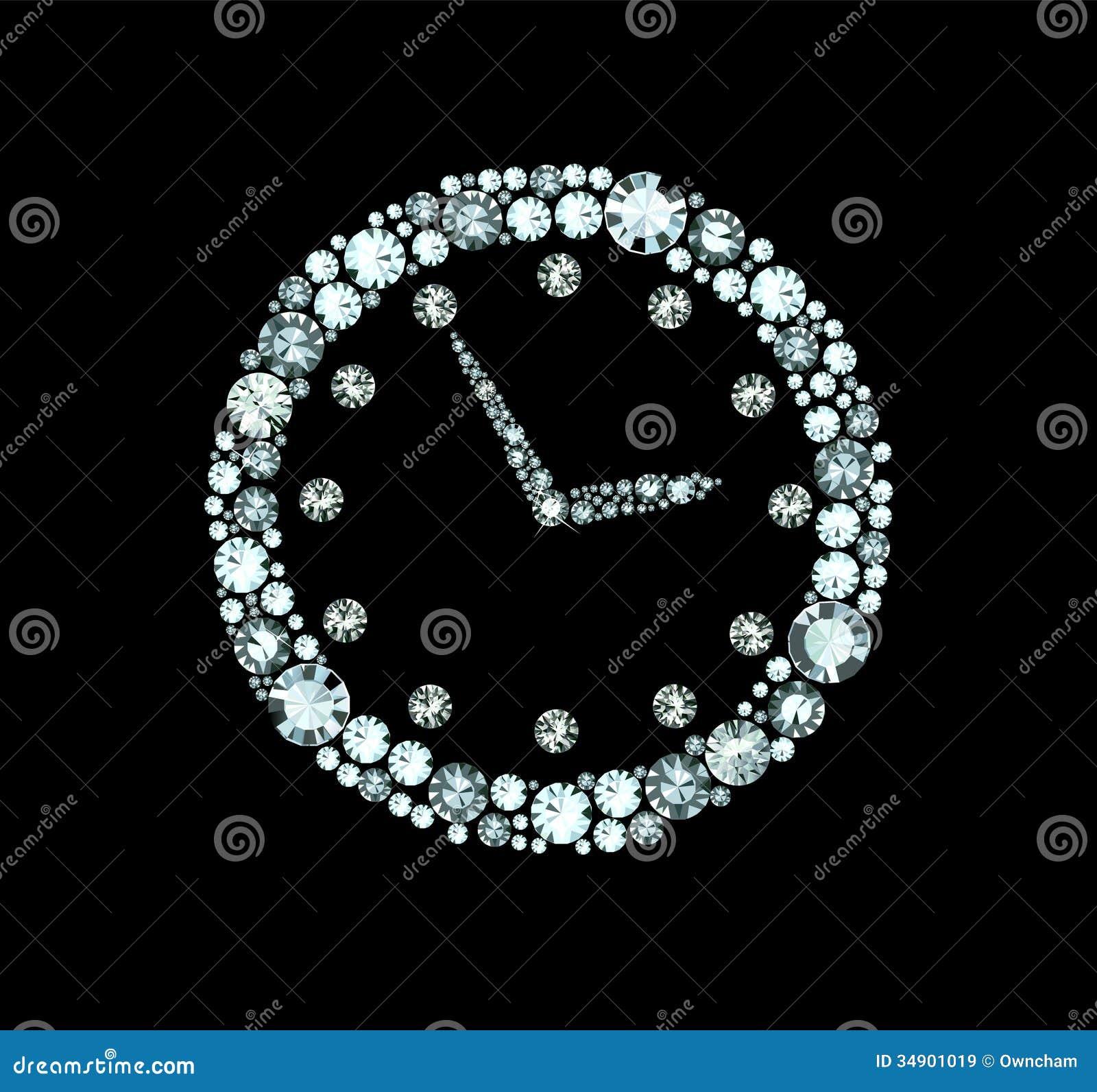 Diamond Clock Royalty Free Stock Images Image 34901019
