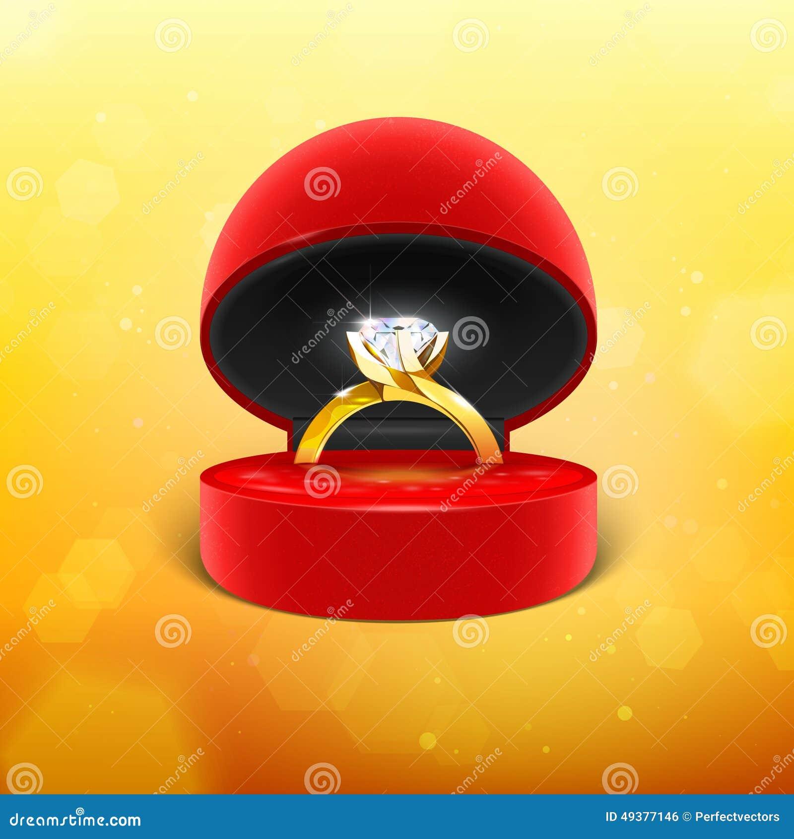 Diamond Engagement Ring dans la boîte
