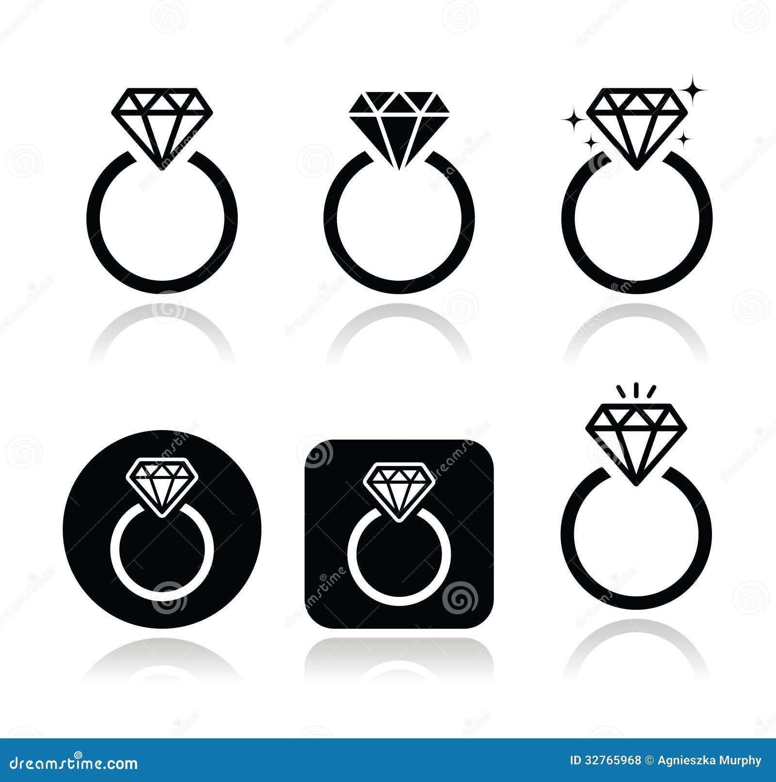 Diamond Engagement Ring Icon Royalty Free Stock Photos - Image ...