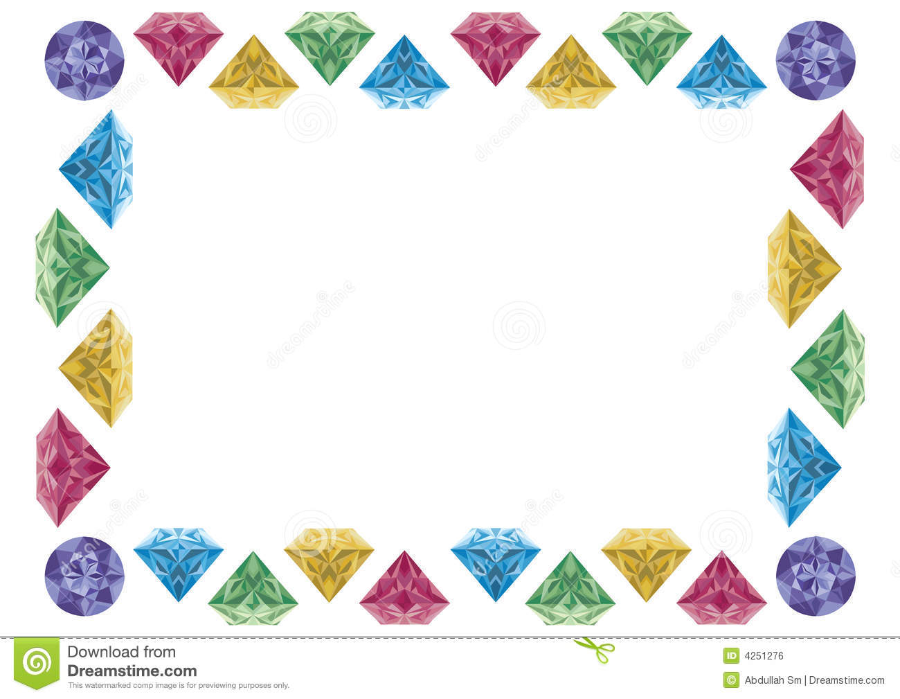 Diamond frame stock illustration. Image of image, isolated ...