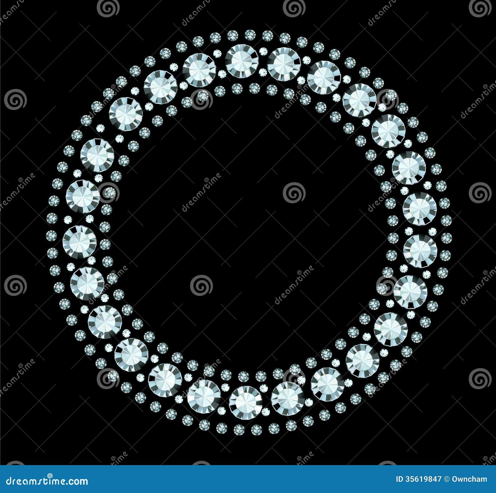 Diamond Frame Stock Vector Image Of Sparkling Face