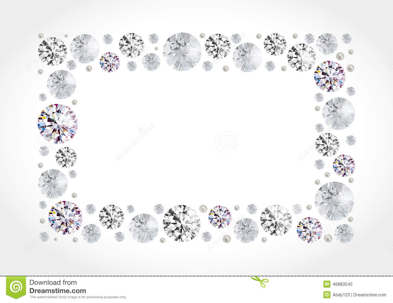 Diamond Frame Stock Vector - Image: 46883545