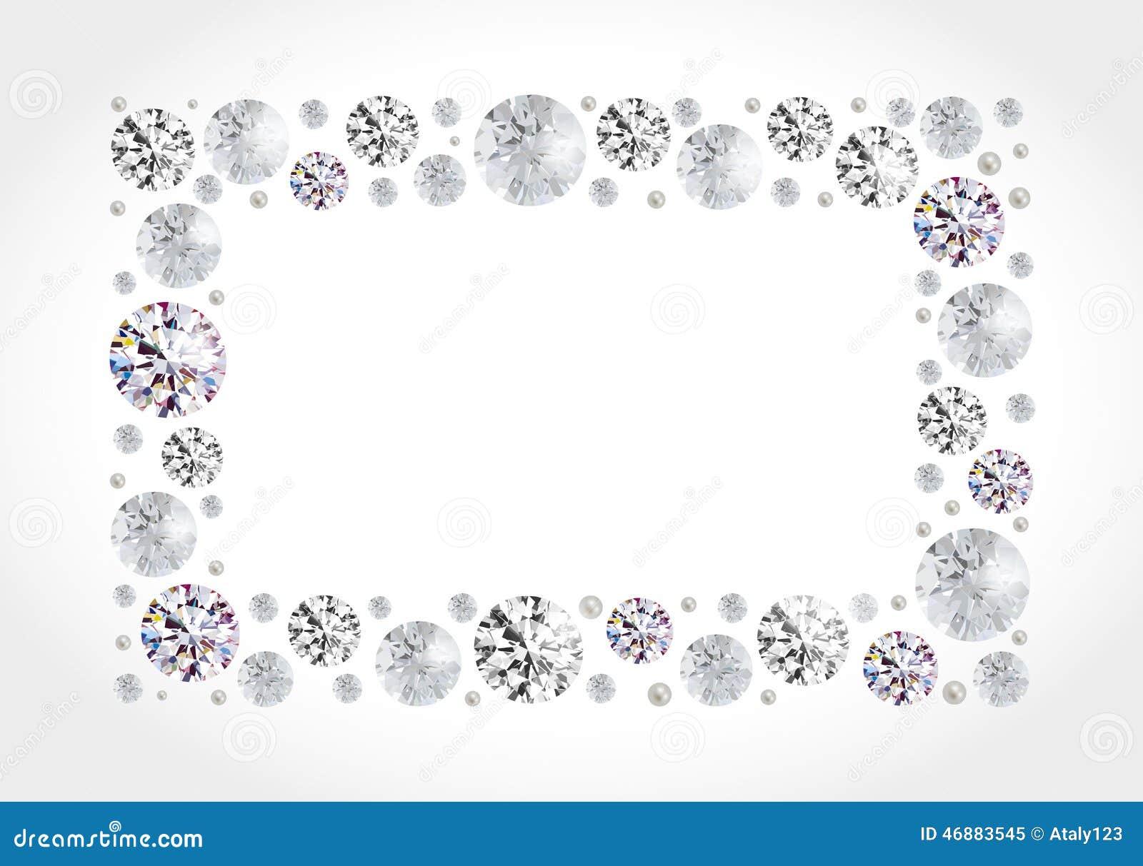 Diamond Frame Stock Vector - Image: 46883545