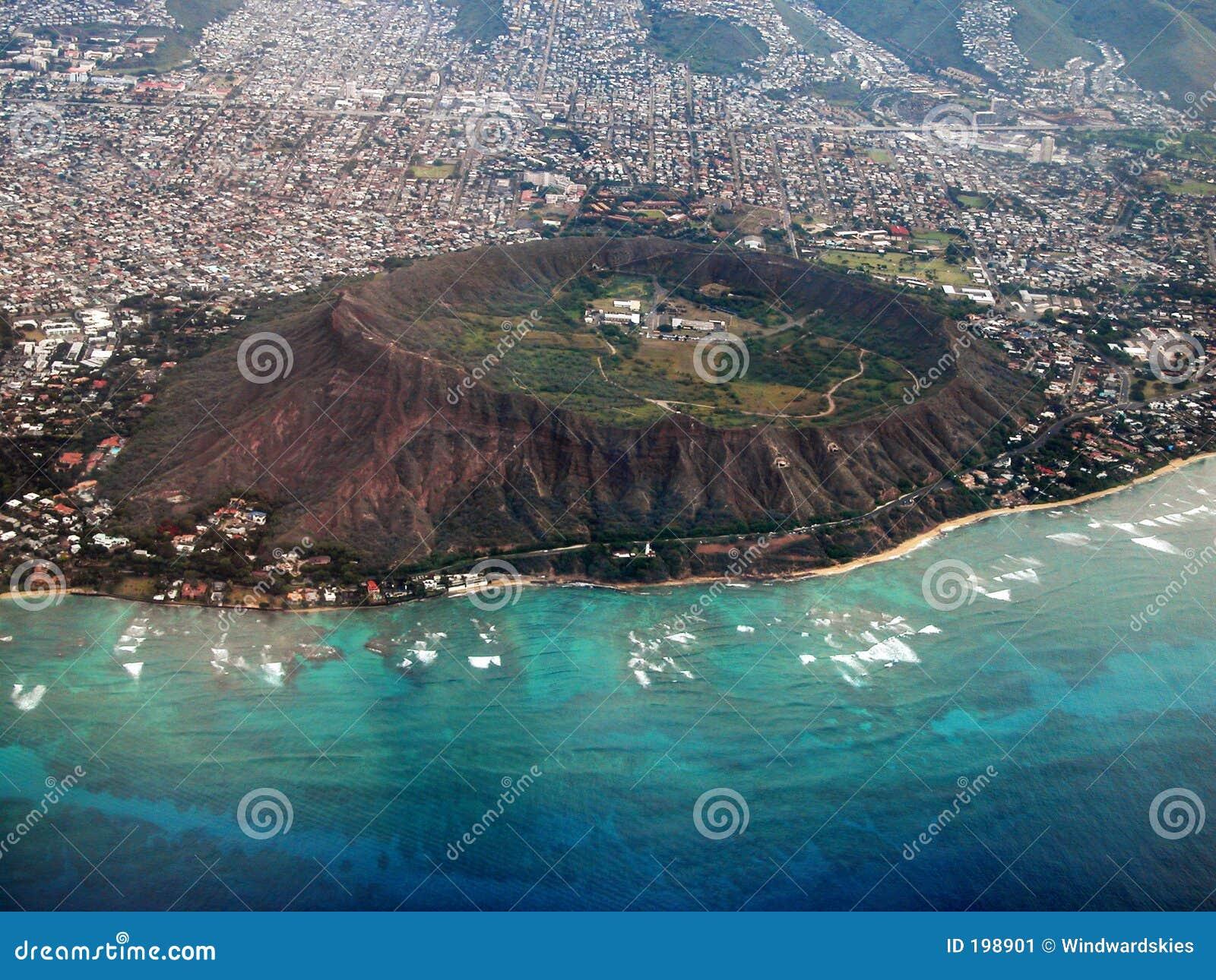 Diamond Head Crater Aerial