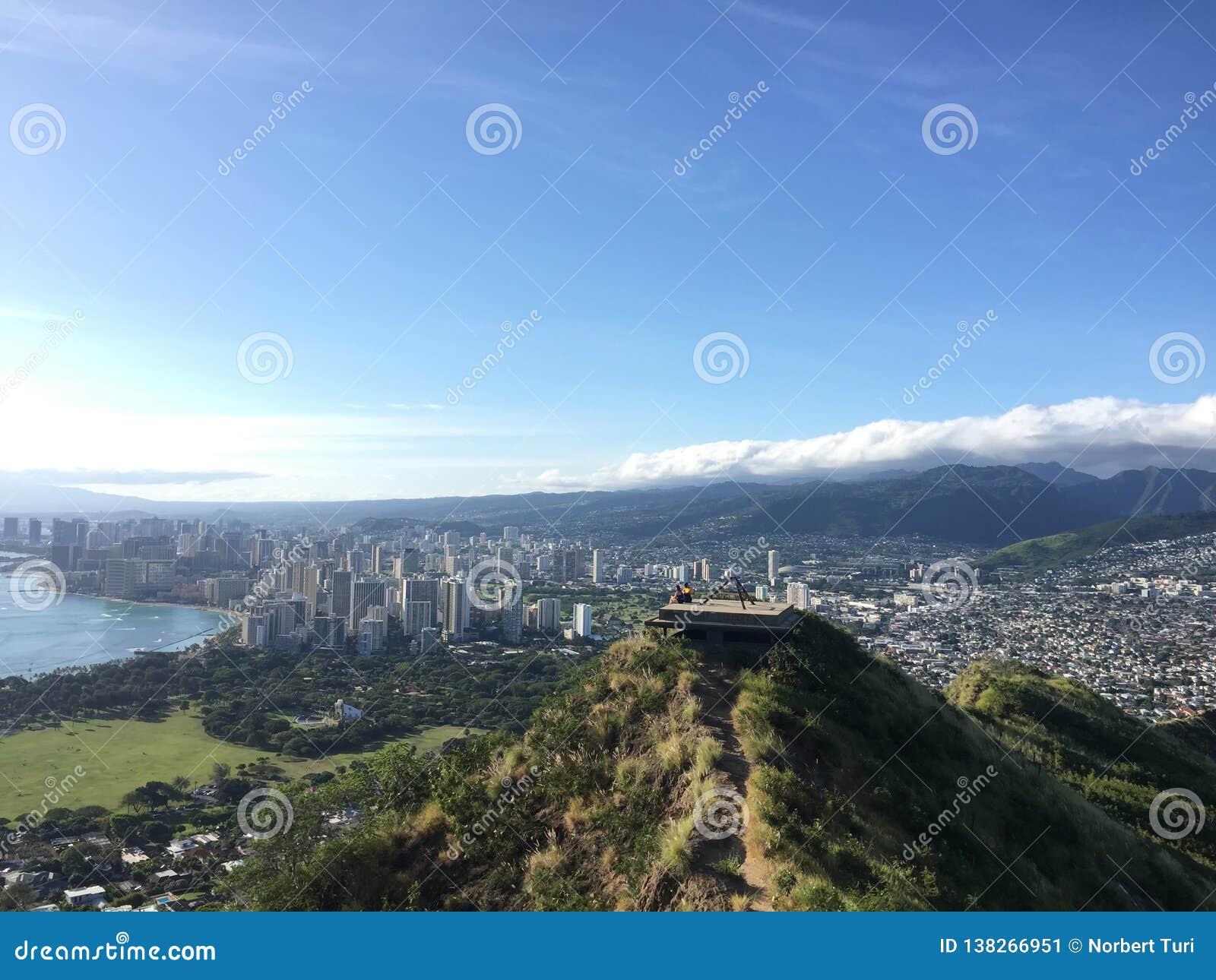 Diamond Head krater på Oahu Hawaii