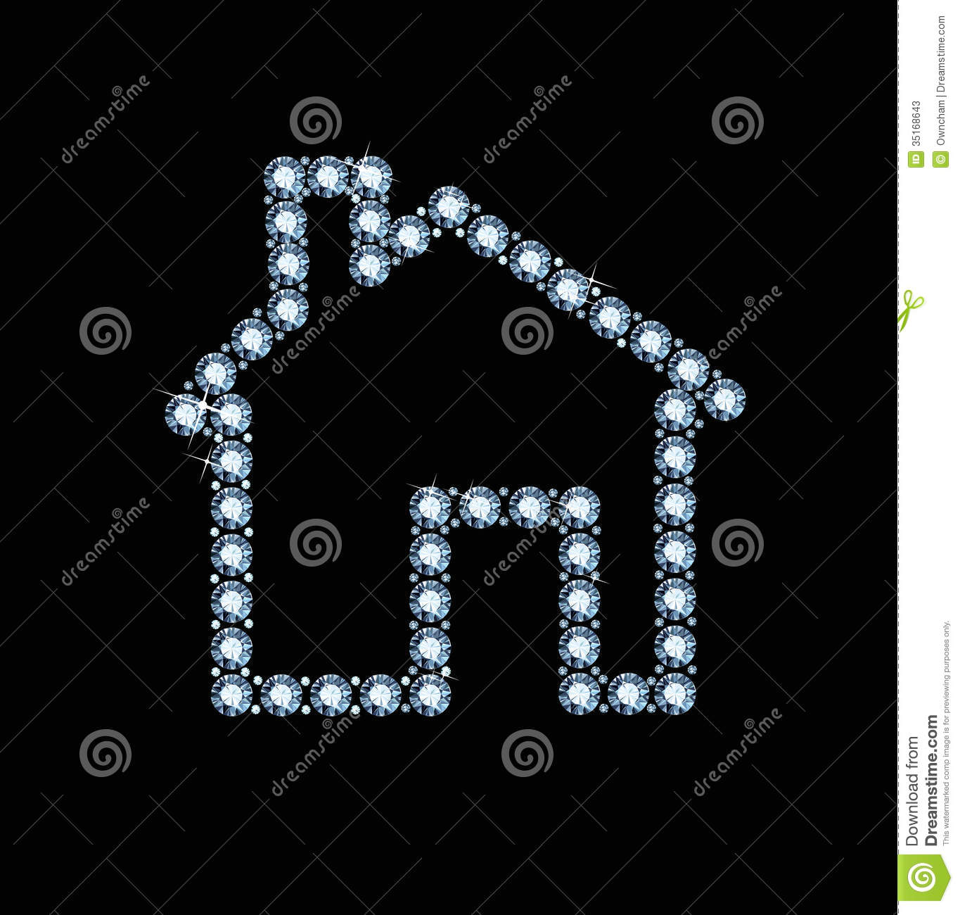 diamond house stock illustration - image: 49963642