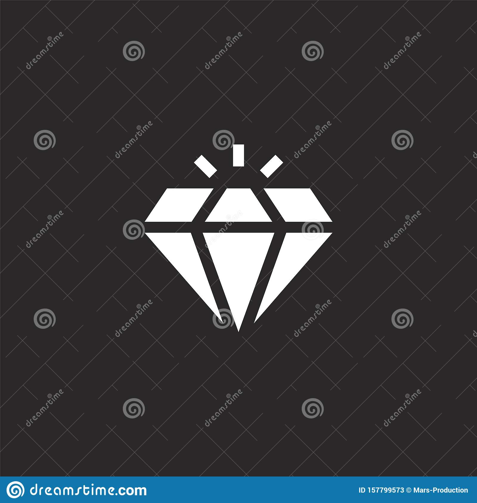 diamond icon. filled diamond icon for website design and