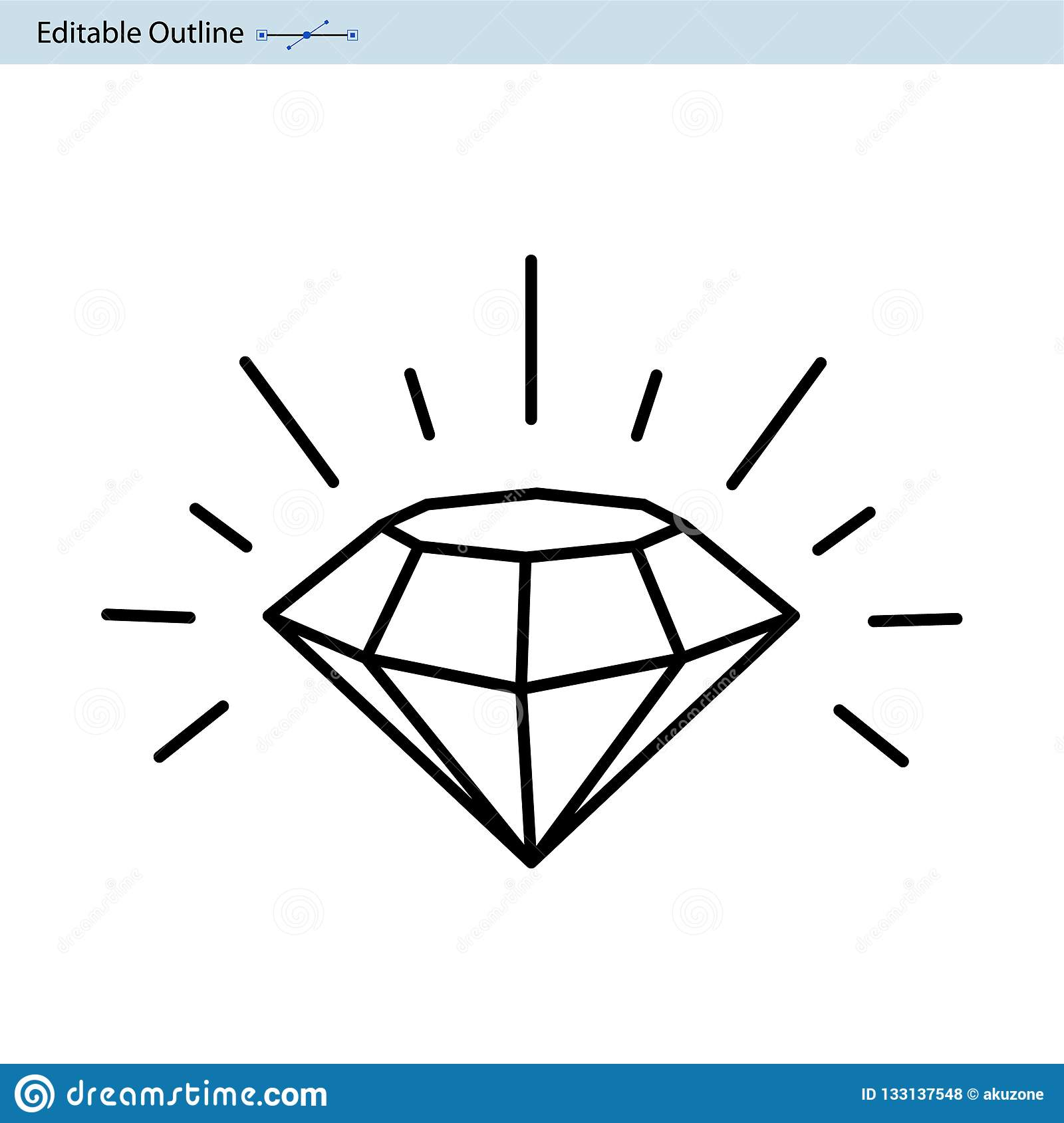 Diamond Icon, 7 Star Rating, Premium Excellent Business