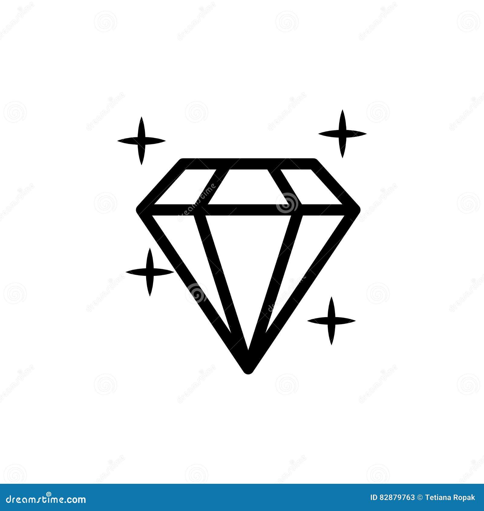 Diamond Gem Stone Carat on Diamond Transparent Icon