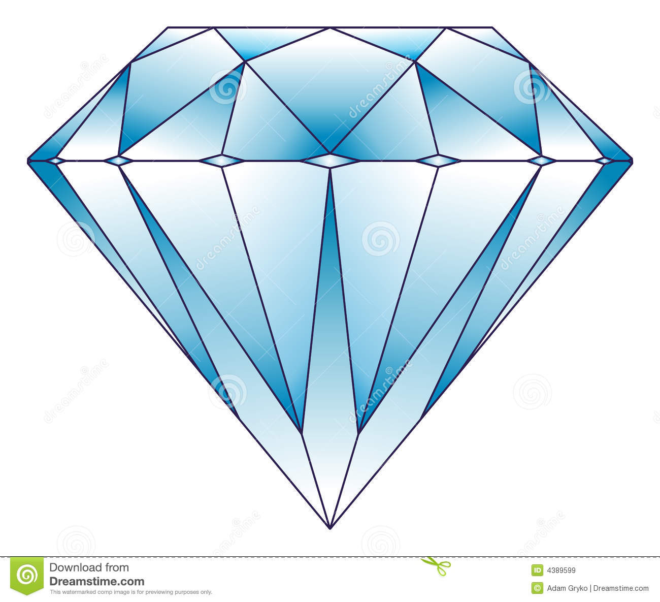 Diamond Illustration Royalty Free Stock Images Image 4389599
