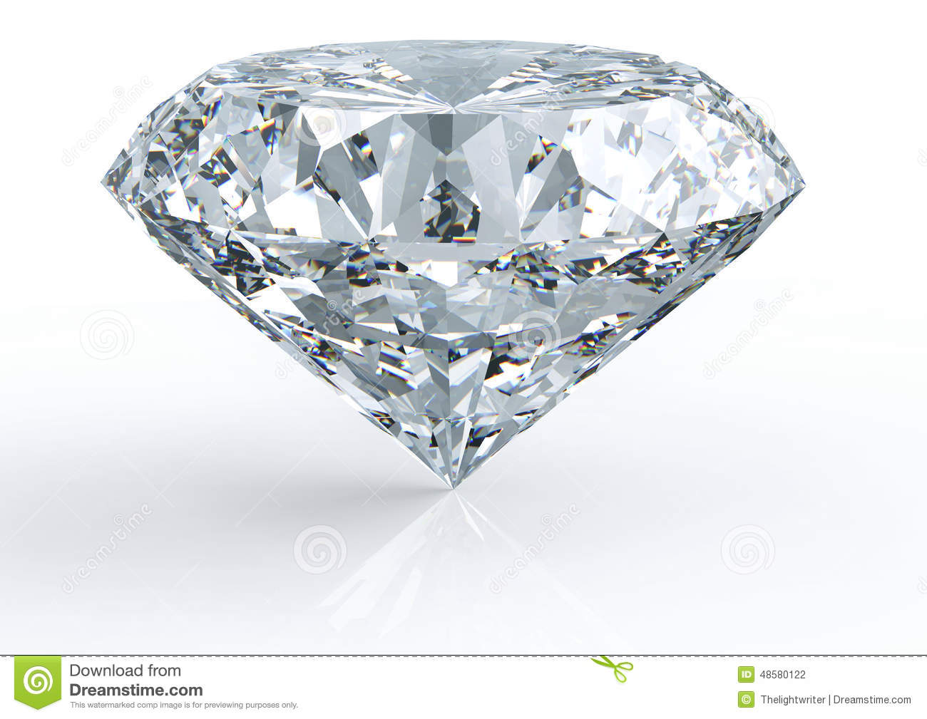 Diamond isolated on white stock photo image 48580122 for Soggiorno a forma di diamante