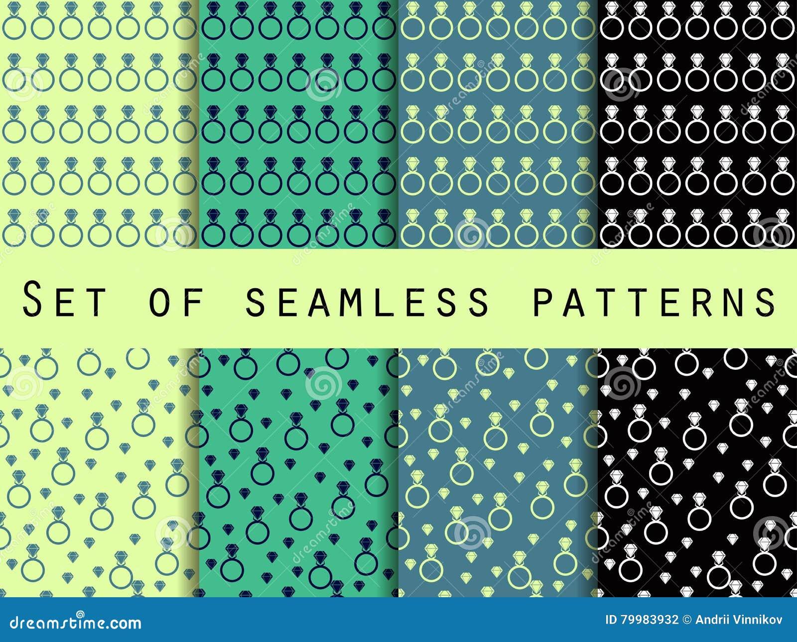 Seamless Diamond Patterns Vector Illustration ...
