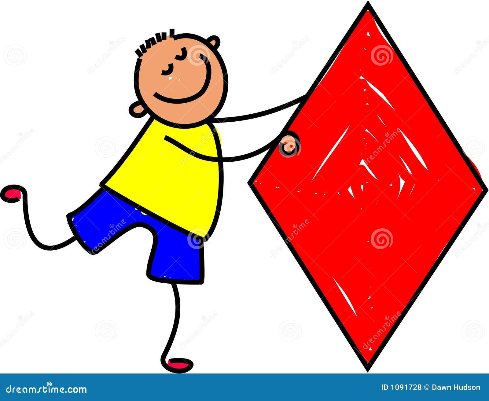 Diamond Kid Stock Vector. Illustration Of Happy, Preschool