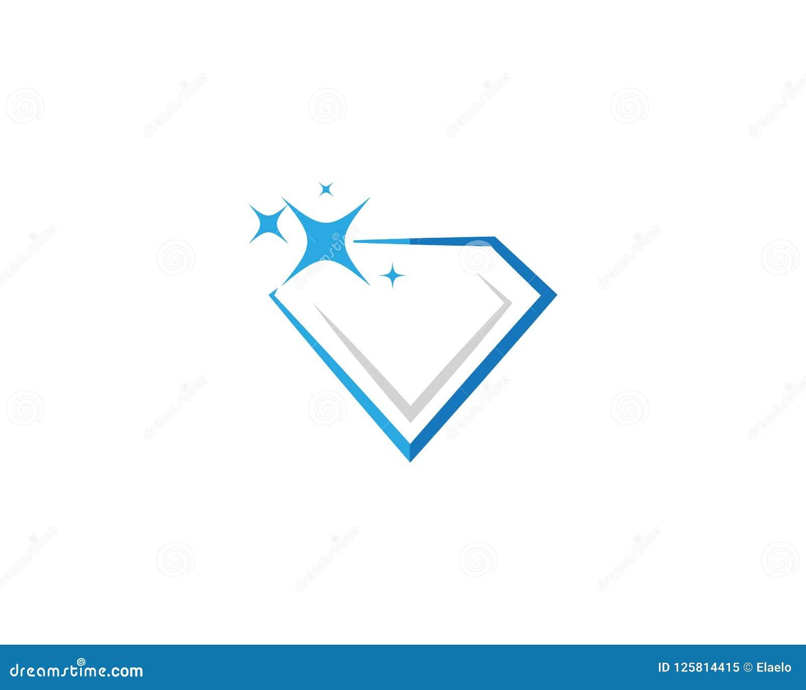 Fashion Logo Editorial Template: Diamond Logo Template Stock Vector. Illustration Of