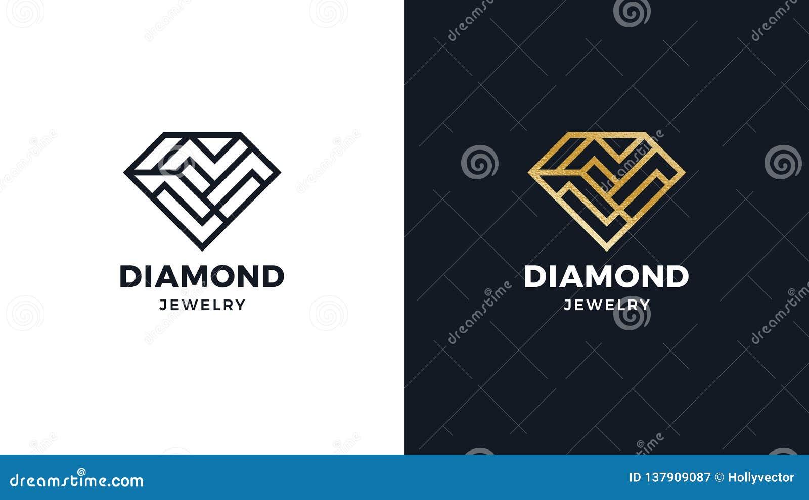 b6b1def361dd5 Diamond Logotype Template