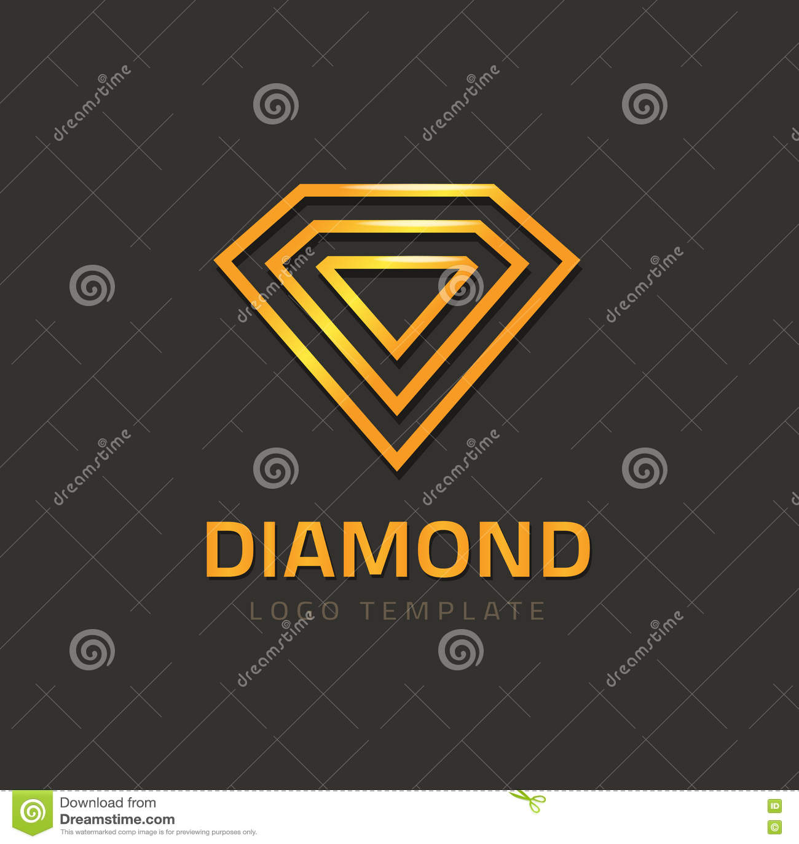 Diamond Logotype Vector, Golden Jewel Logo Concept Of ...