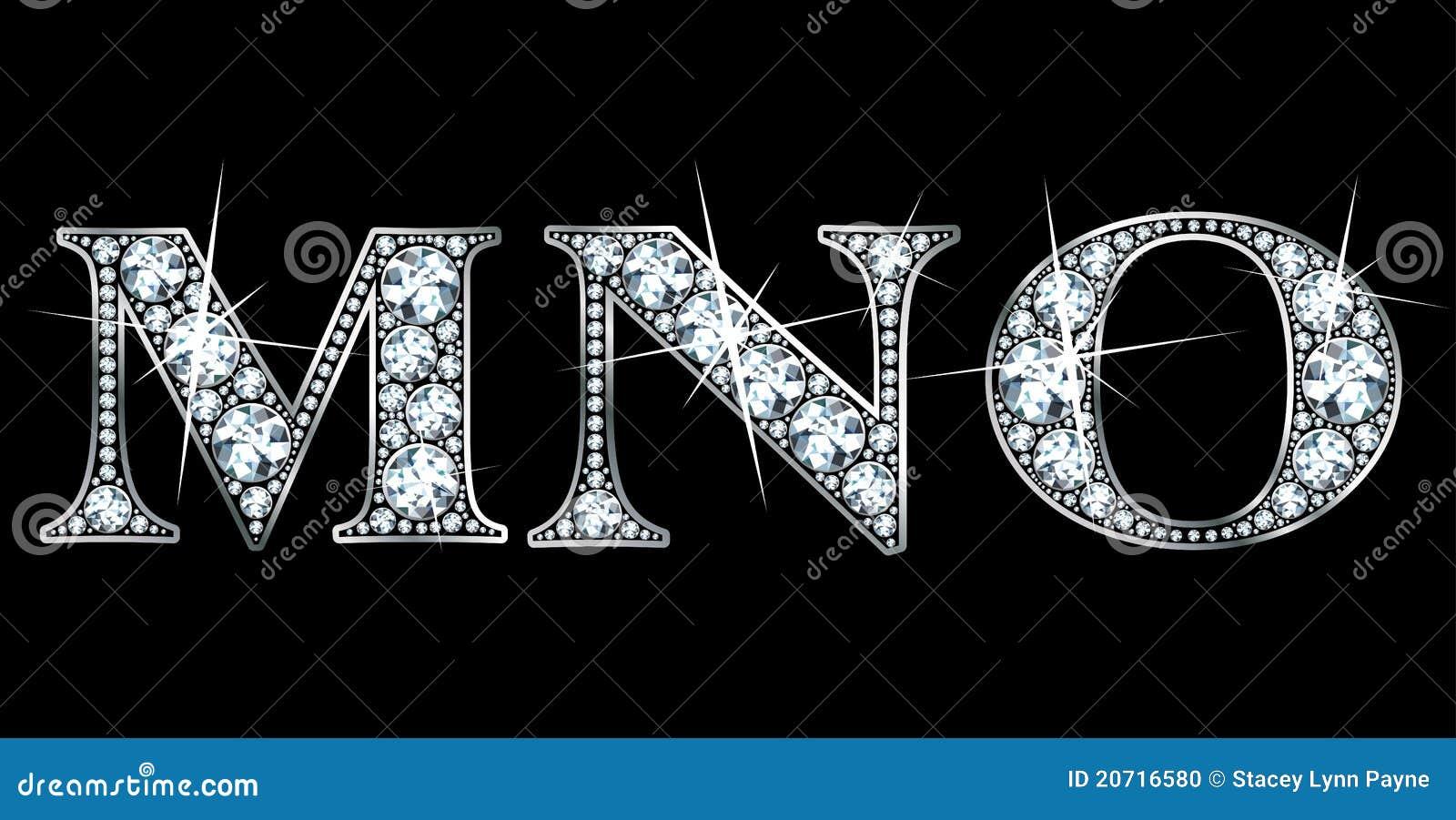 diamond m  n  o stock photo
