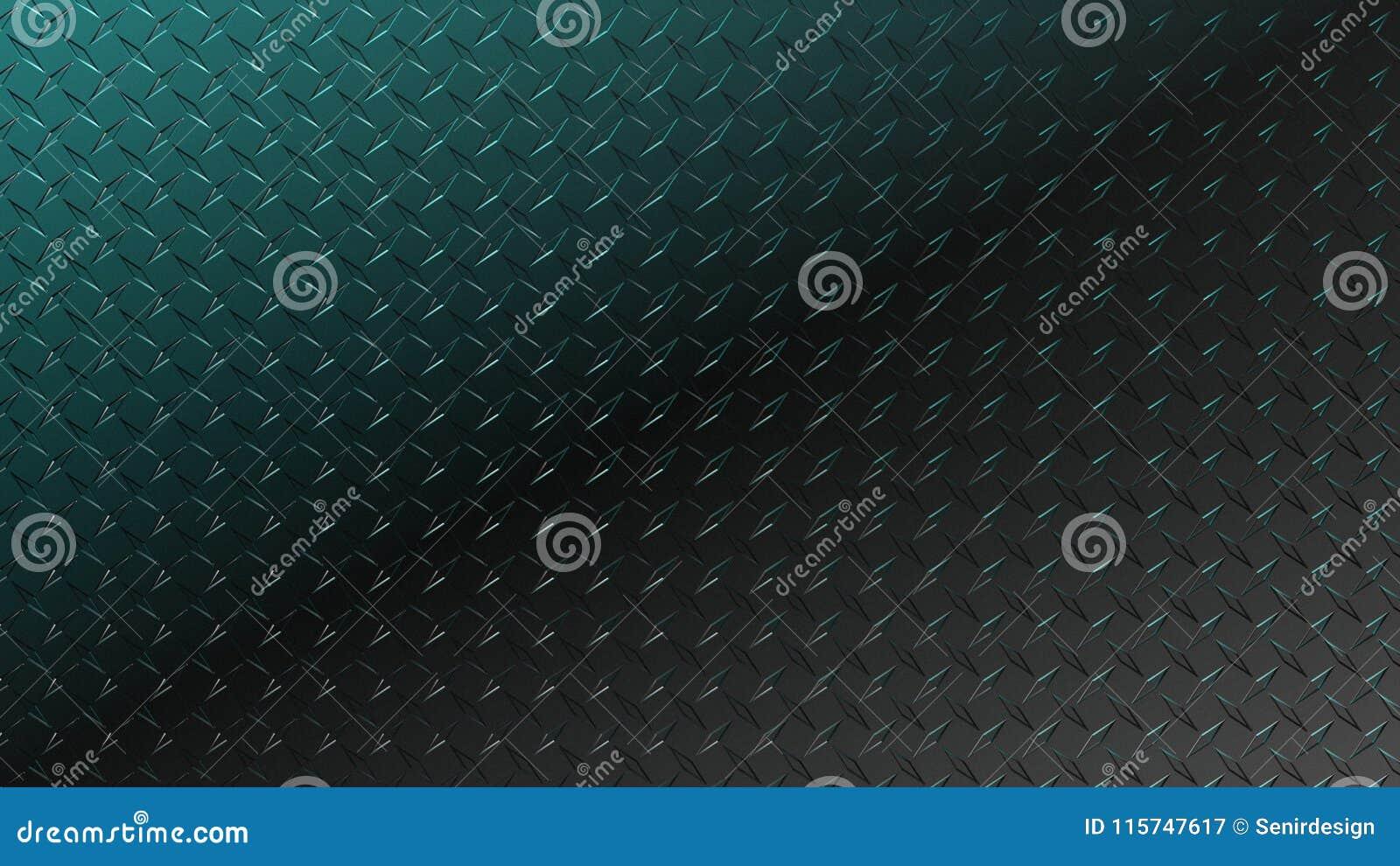 Diamond Plate Blue Black Background