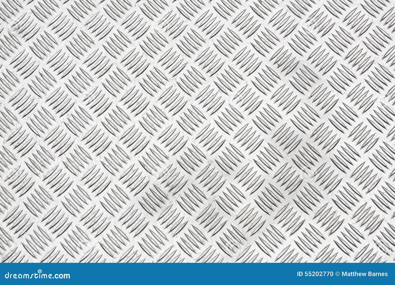 Diamond Plate Or Checker Plate Sheet Stock Photo Image