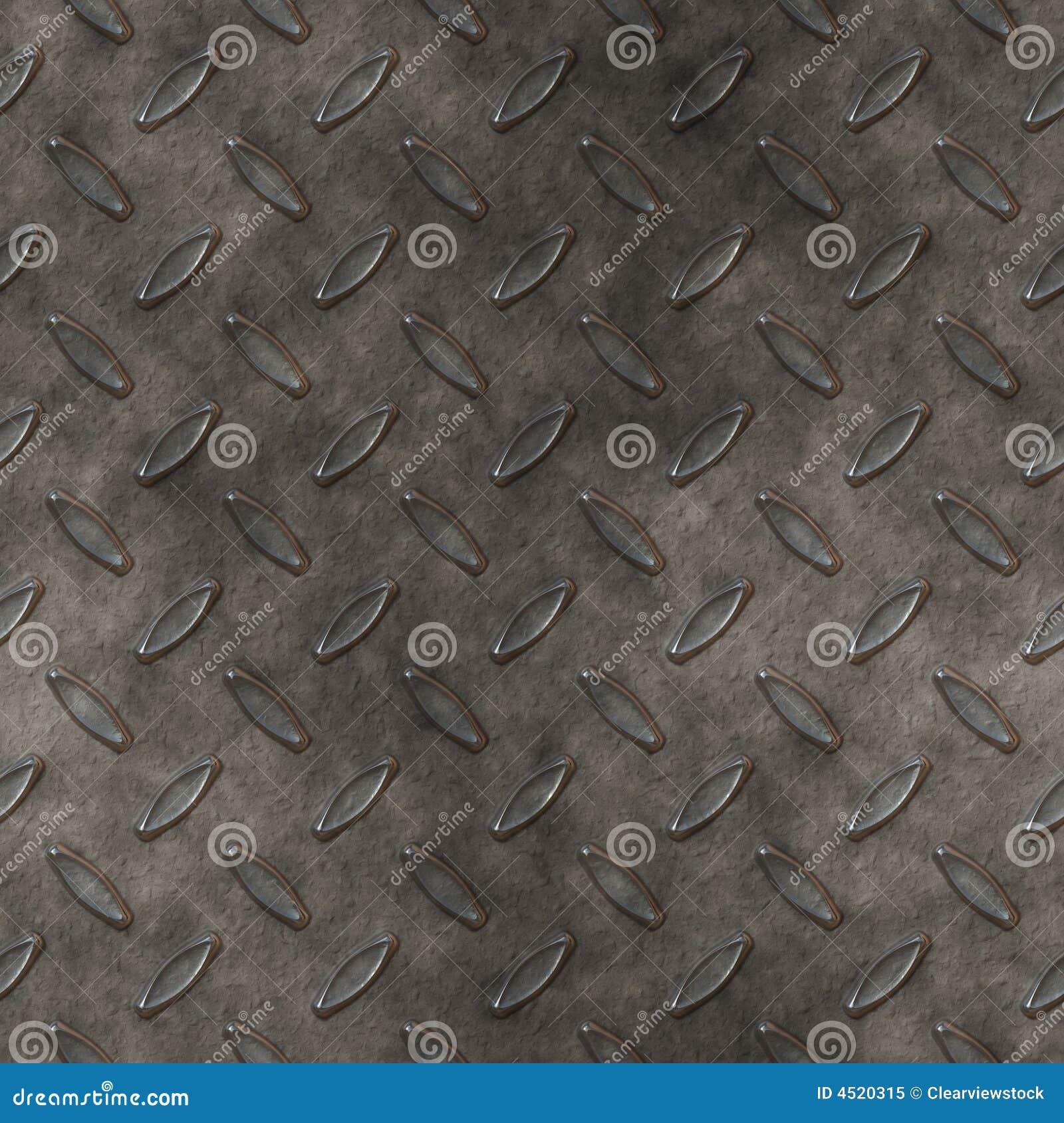 Diamond Plate Metal Background Stock Vector Illustration