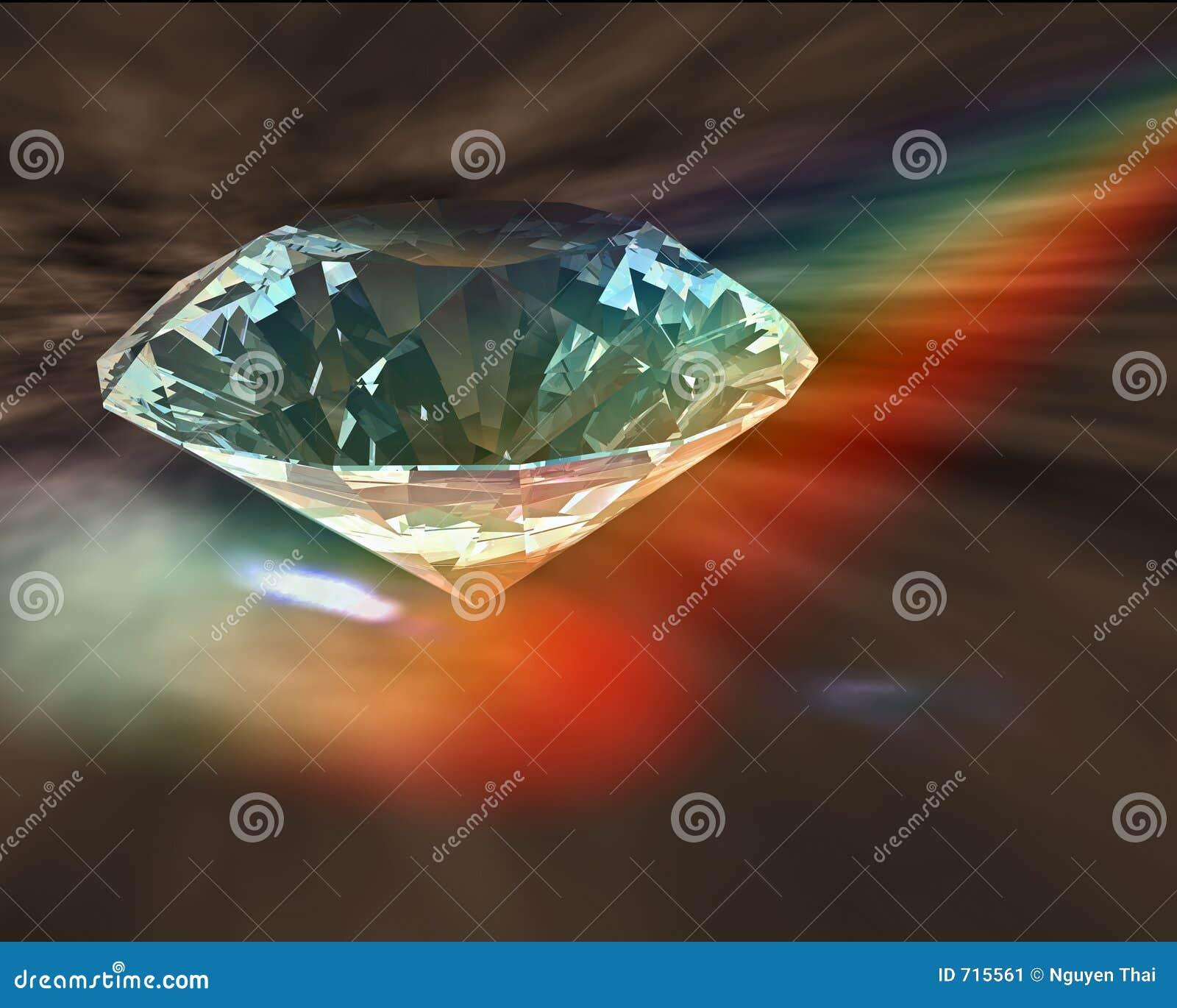Diamond In Rainbow Stock Illustration Illustration Of