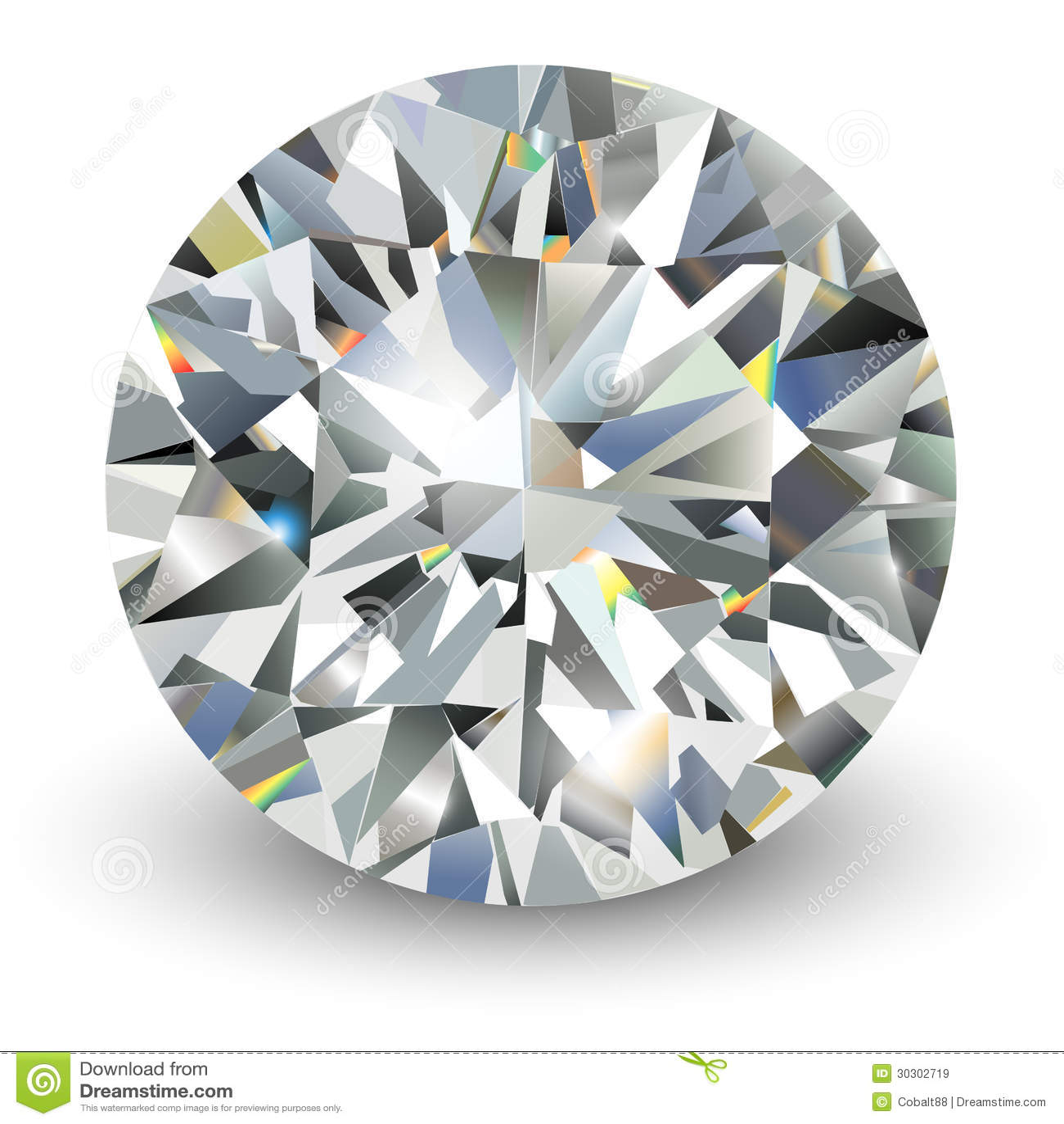 diamond realistic vector illustration 30302719