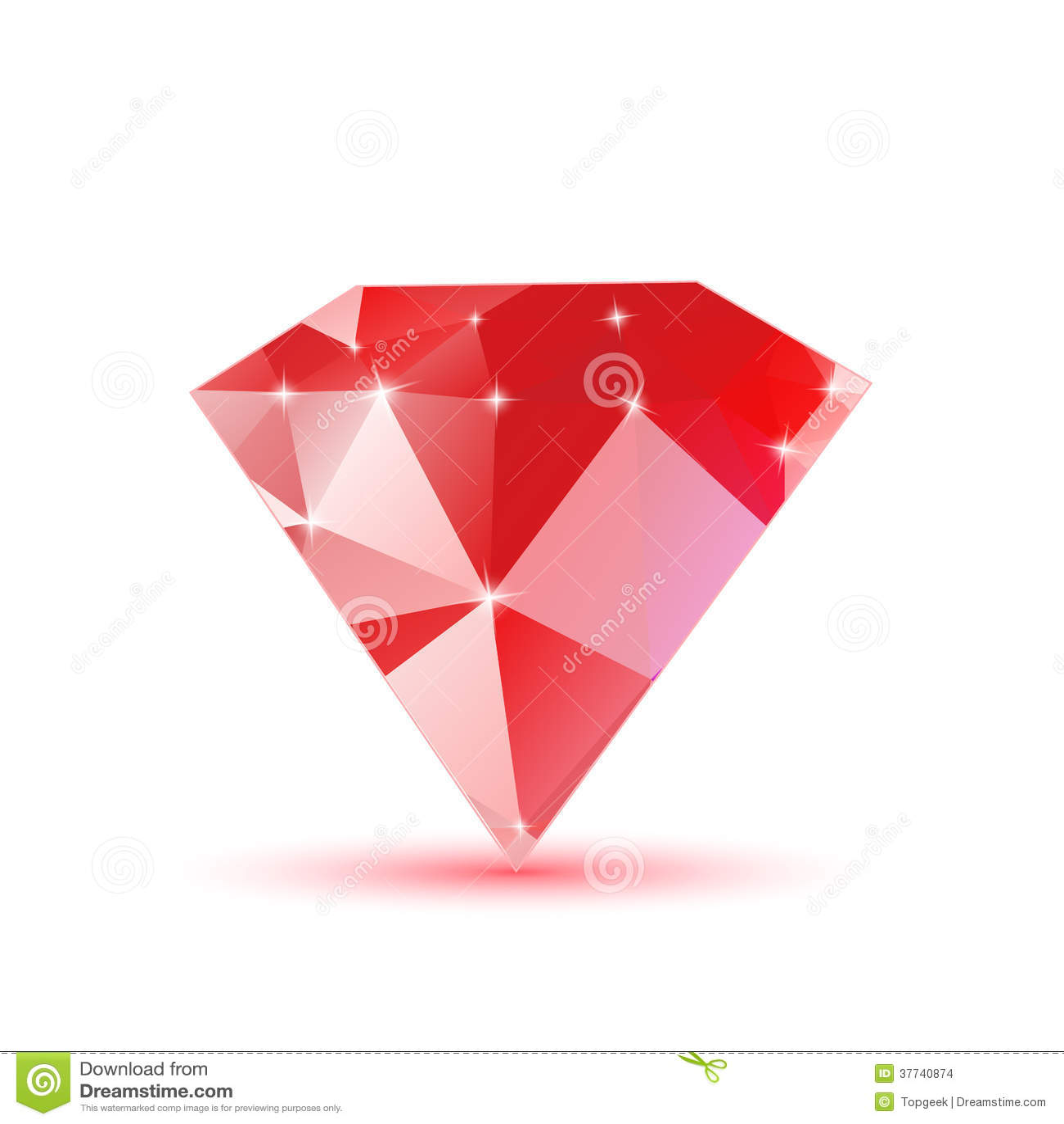 Diamond red triangular stock vector. Illustration of shape - 37740874