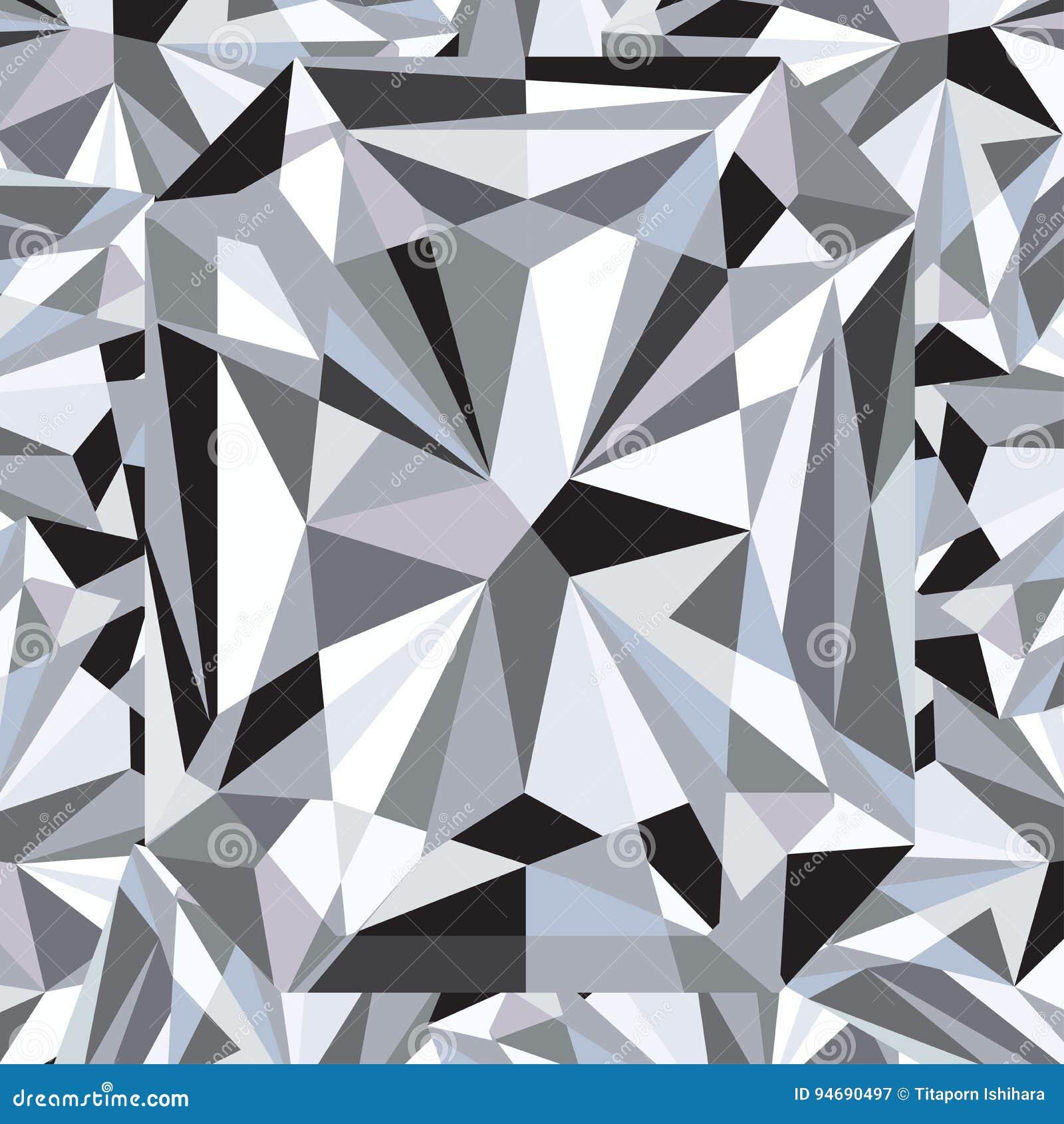 Diamond Reflection Abstract Background Vector Stock Vector
