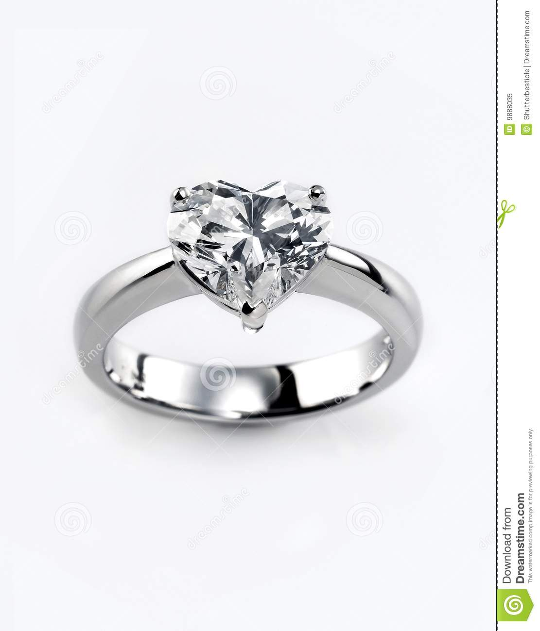 Diamond Ring Stock Image Image Of Shiny Present Background 9888035
