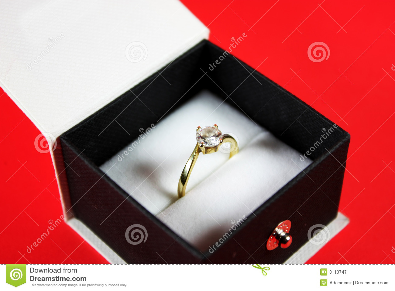 803be9693 Diamond Ring In A Black Jewelry Box Stock Image - Image of life ...
