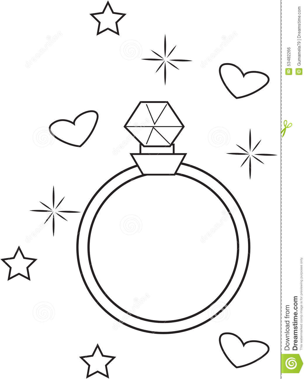 The Gallery For Gt Wedding Ring Coloring Pages