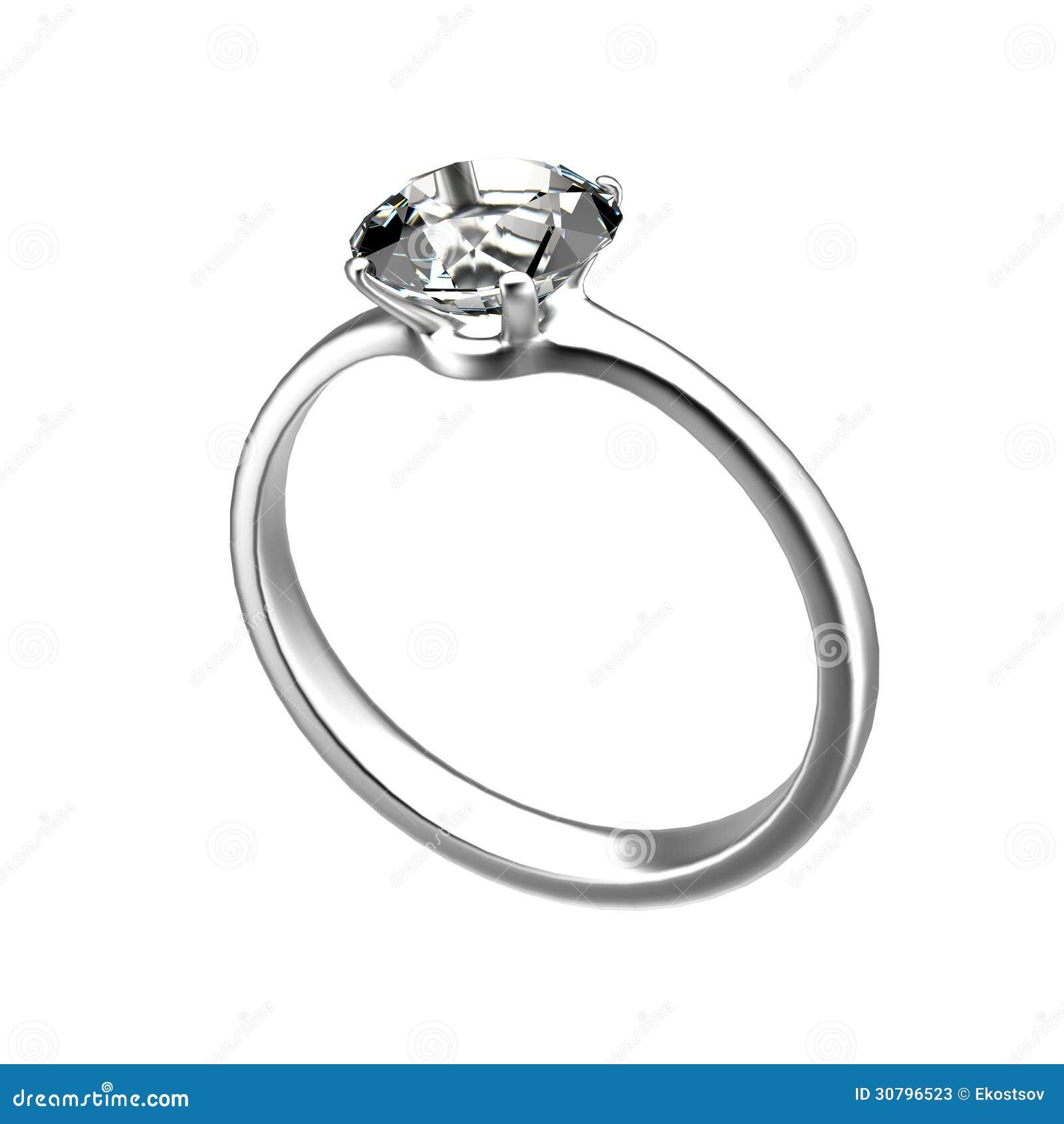 Diamond Ring Wedding Gift Stock Photos