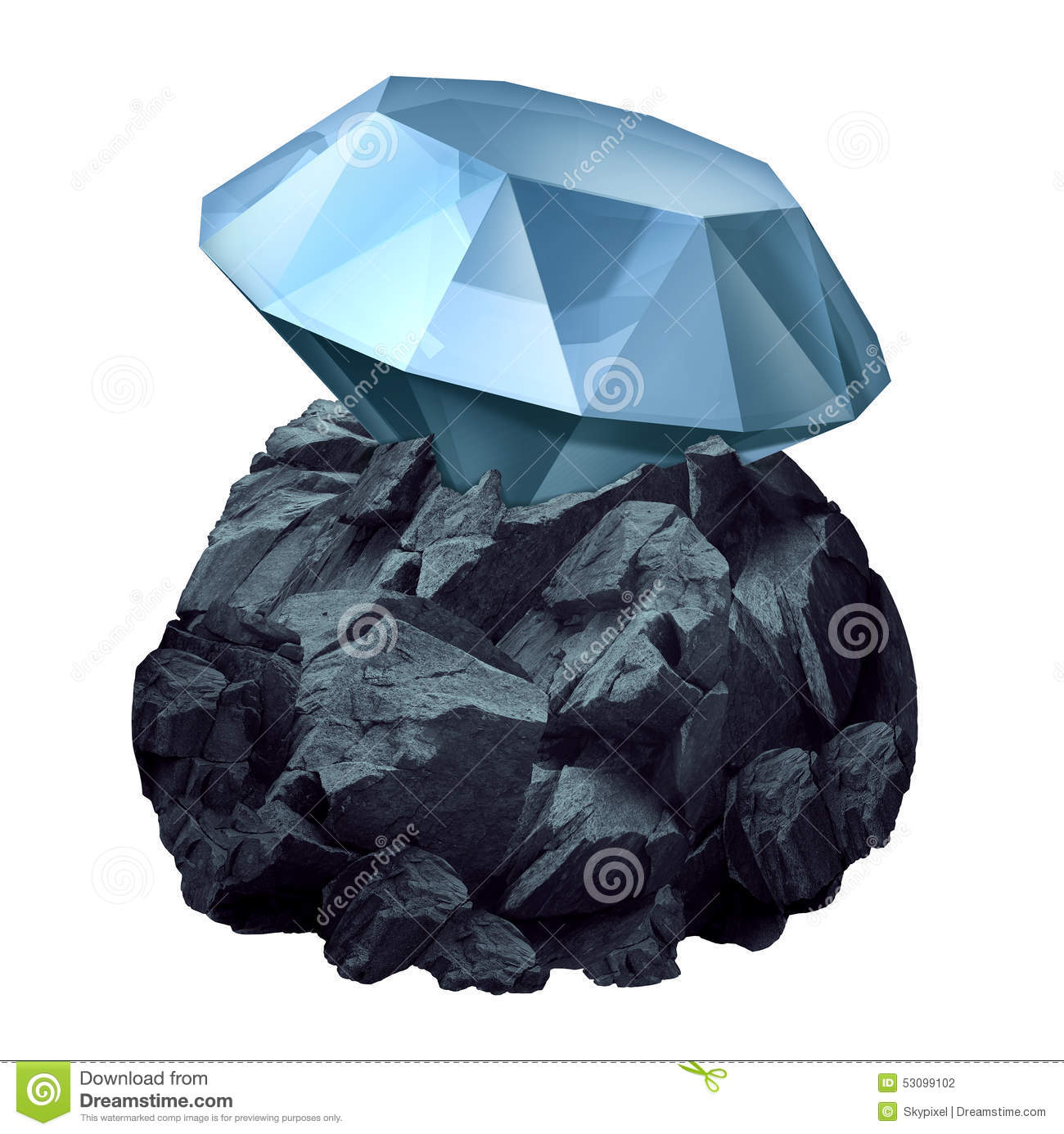 diamond in the rough stock illustration image 53099102
