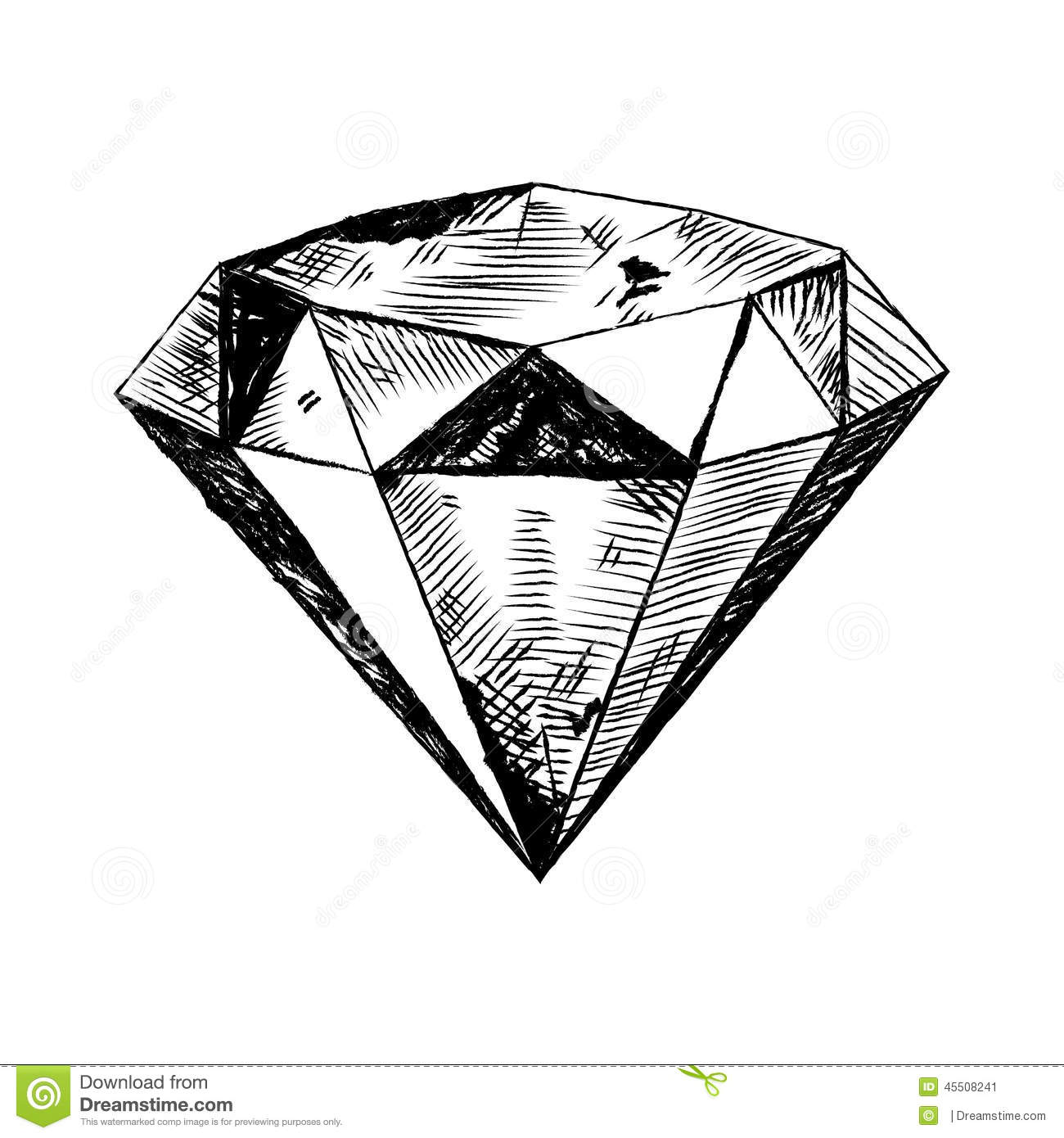 diamond in the rough illustration stock vector image