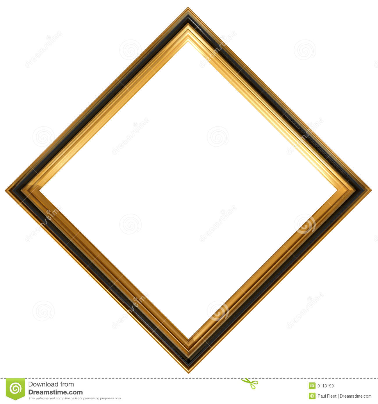 Diamond Shaped Antique Picture Frame Royalty Free Stock Images - Image: 9113199