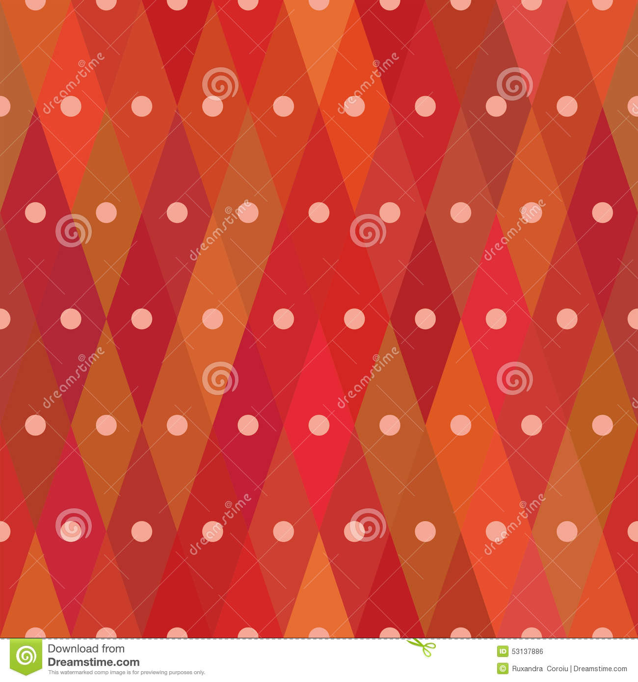 Diamond Shaped Red Seamless Pattern With Centered Dots Repetitive – Dot Paper Template