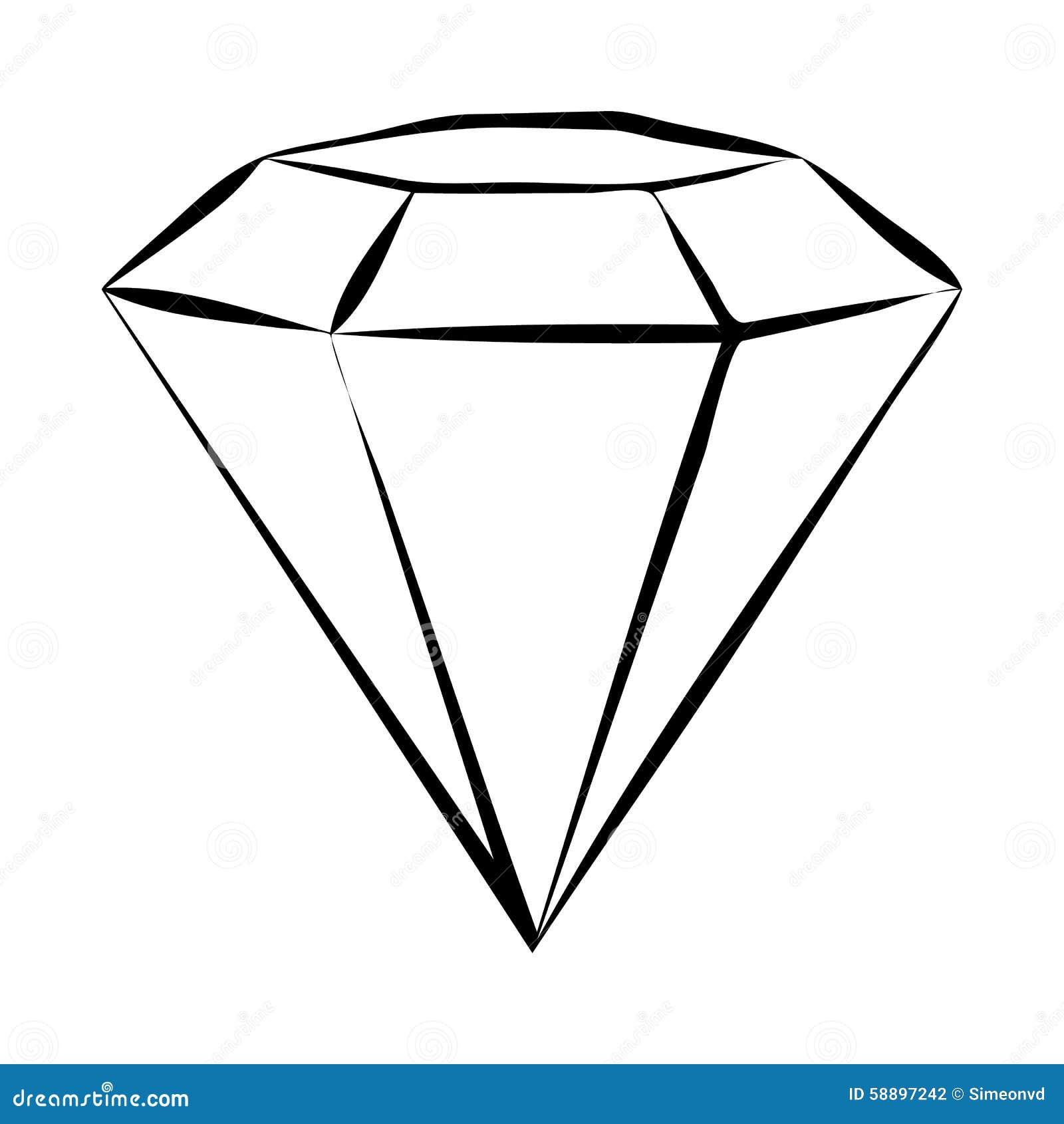 diamond skech stock vector illustration of faceting 58897242 rh dreamstime com vector diamond plate vector diamond plate background