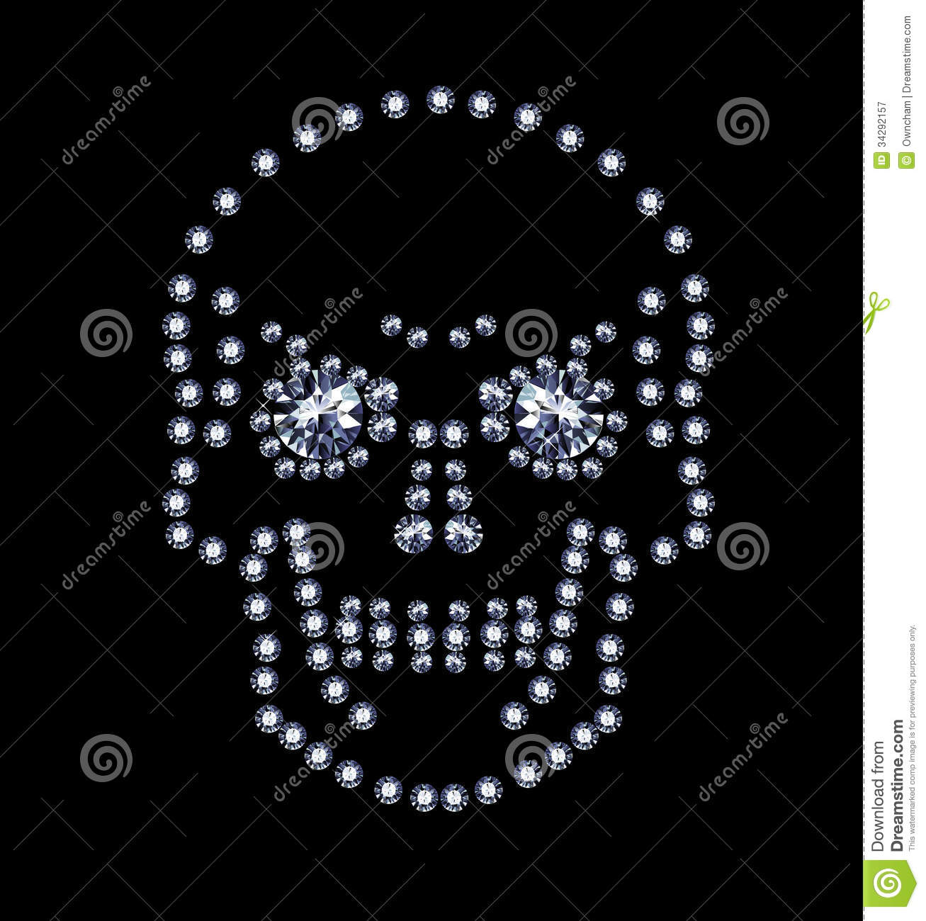 Diamond Skull Royalty Free Stock graphy Image