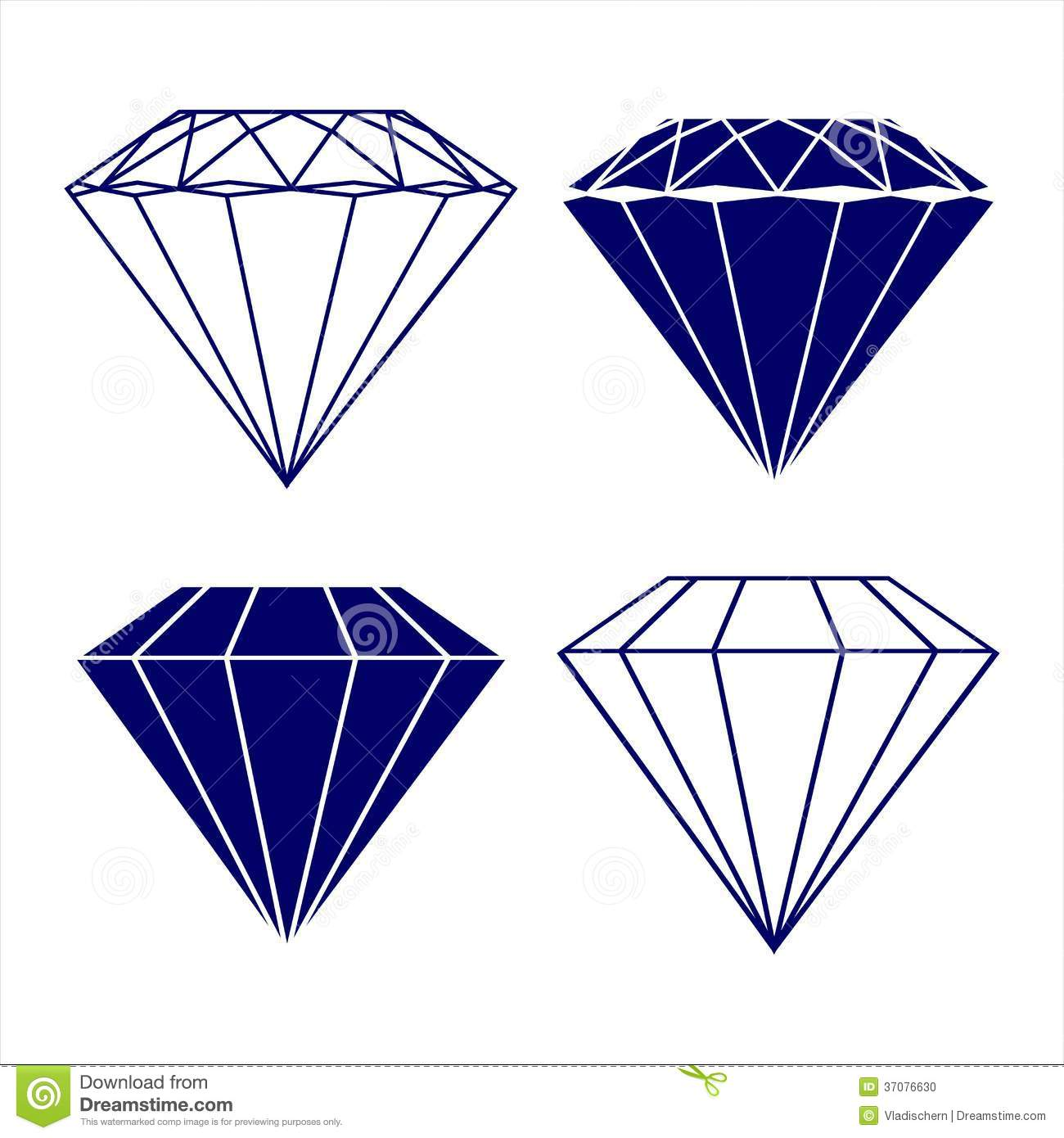 Diamond Symbols Vector Illustration Stock Photo - Image: 37076630